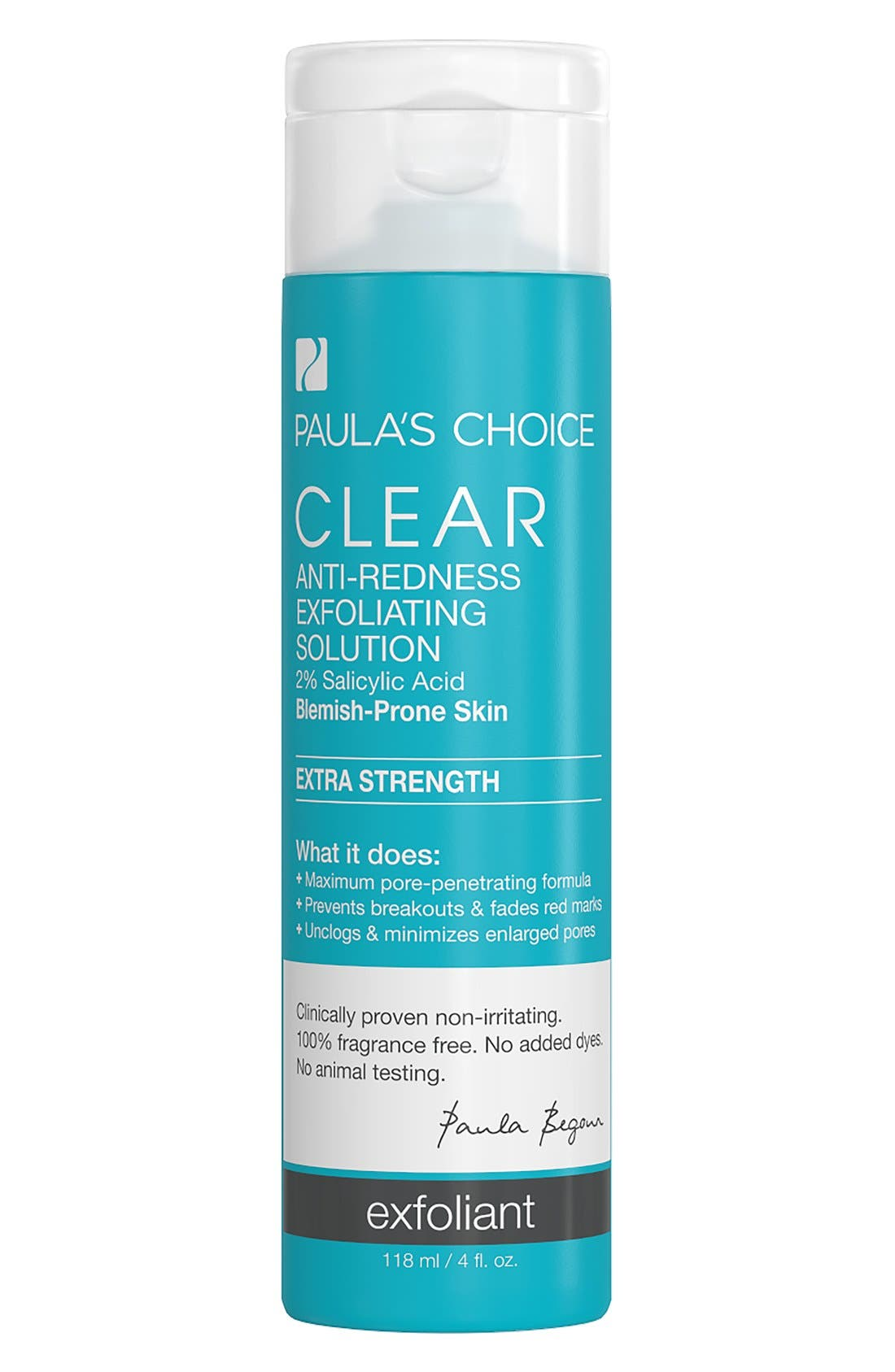 Clear Extra Strength Anti-Redness Exfoliating Solution,                             Main thumbnail 1, color,                             NO COLOR