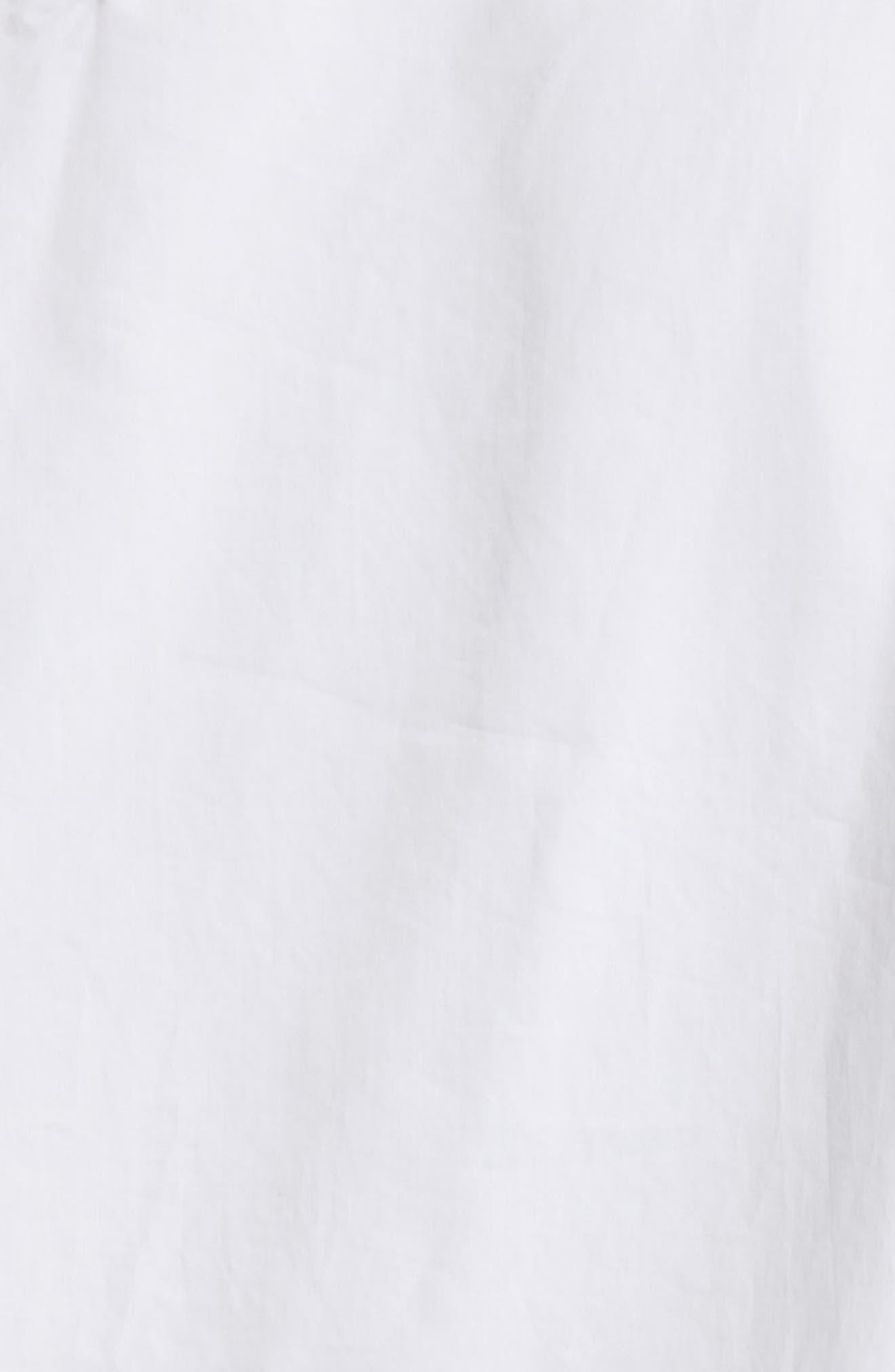 Satin Poplin One-Shoulder Blouse,                             Alternate thumbnail 5, color,                             100