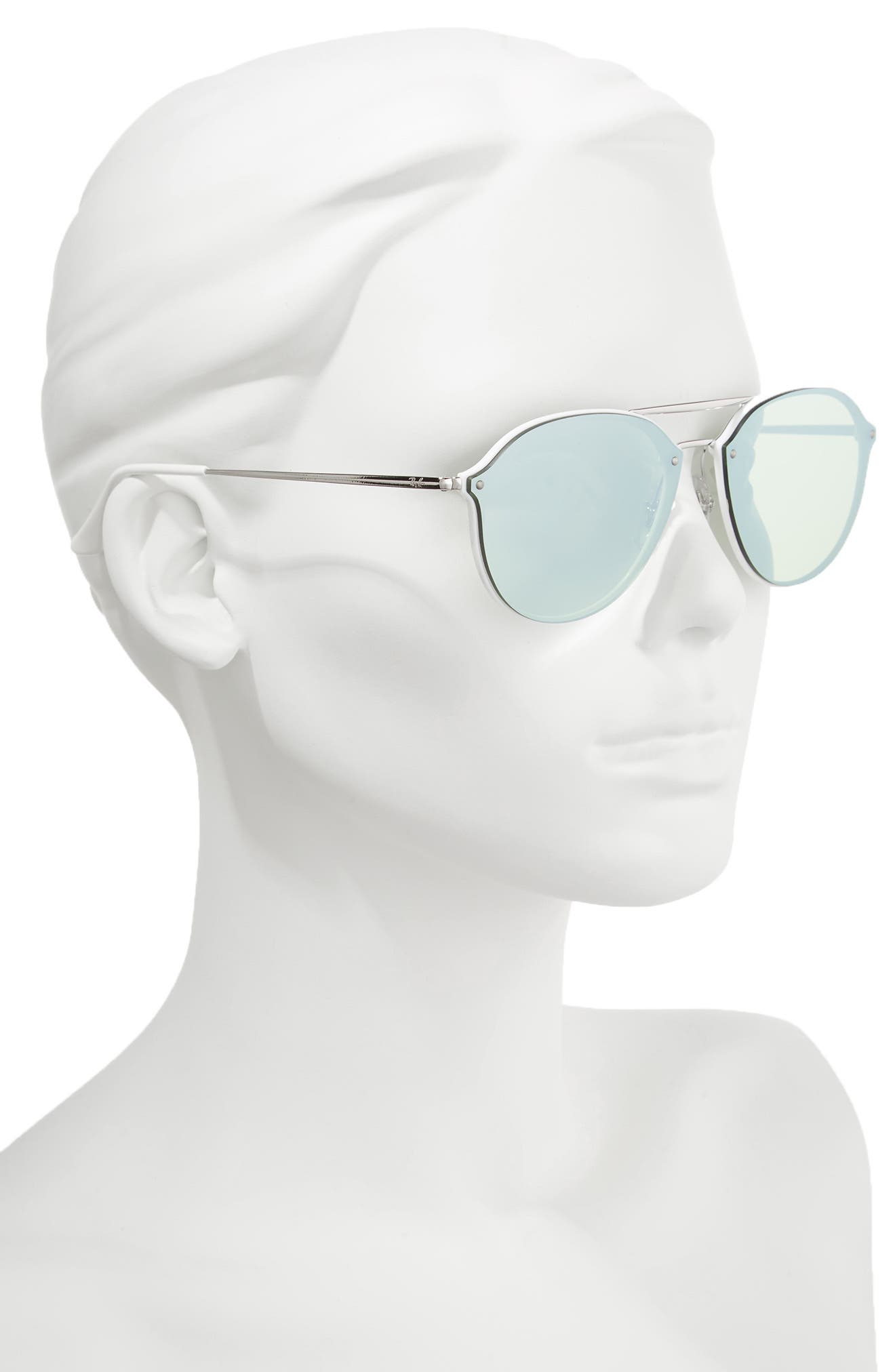 62mm Mirrored Lens Aviator Sunglasses,                             Alternate thumbnail 2, color,                             100