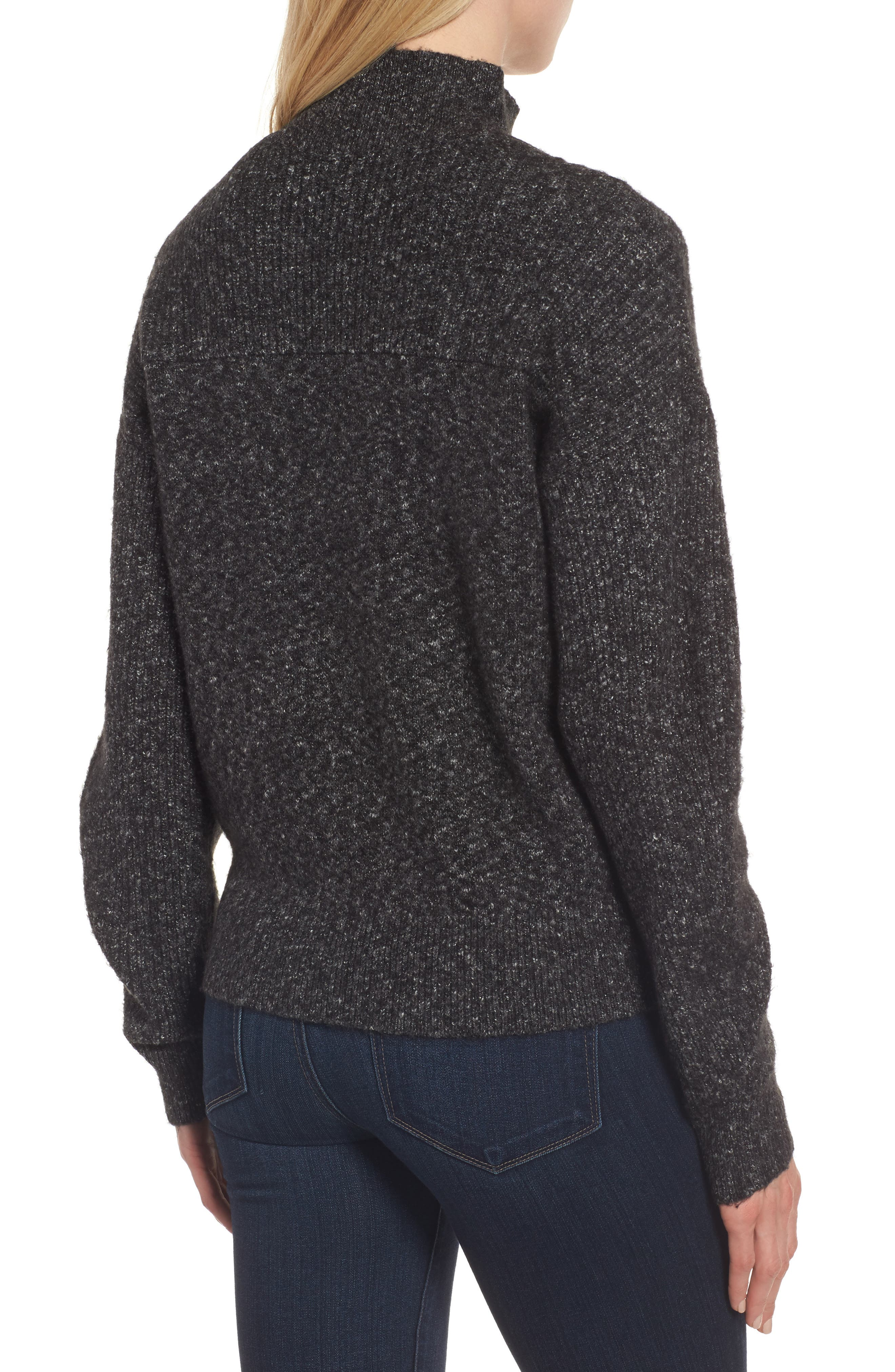 Mock Neck Cable Knit Sweater,                             Alternate thumbnail 2, color,                             030