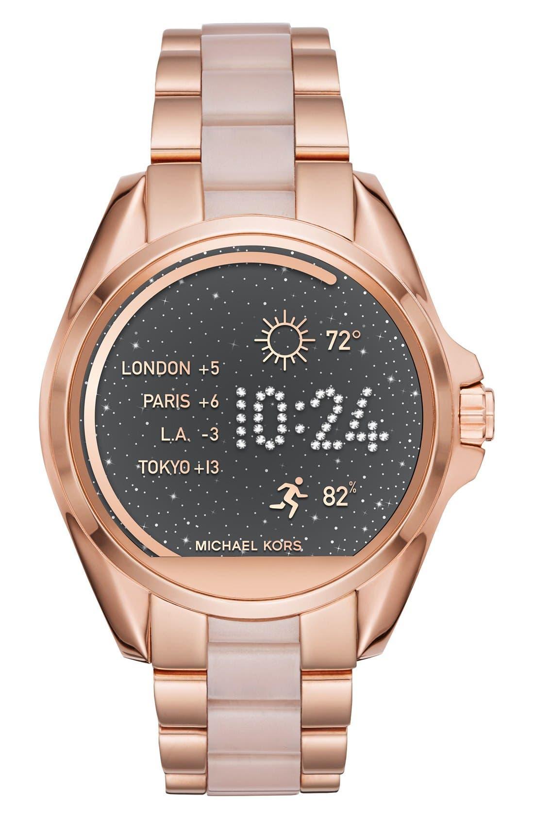 MICHAEL Michael Kors Bradshaw Access Bracelet Smart Watch, 45mm,                             Main thumbnail 12, color,