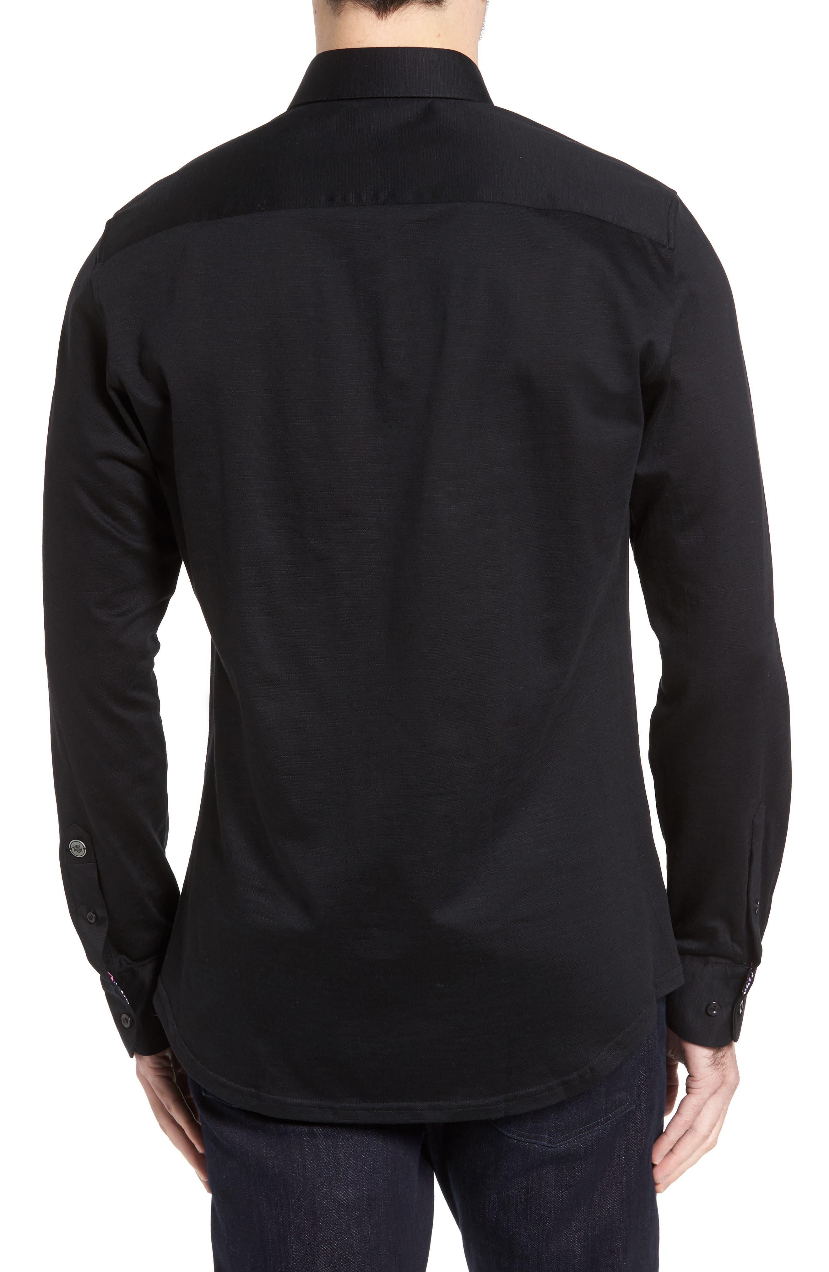 Flamé Knit Sport Shirt,                             Alternate thumbnail 2, color,                             001
