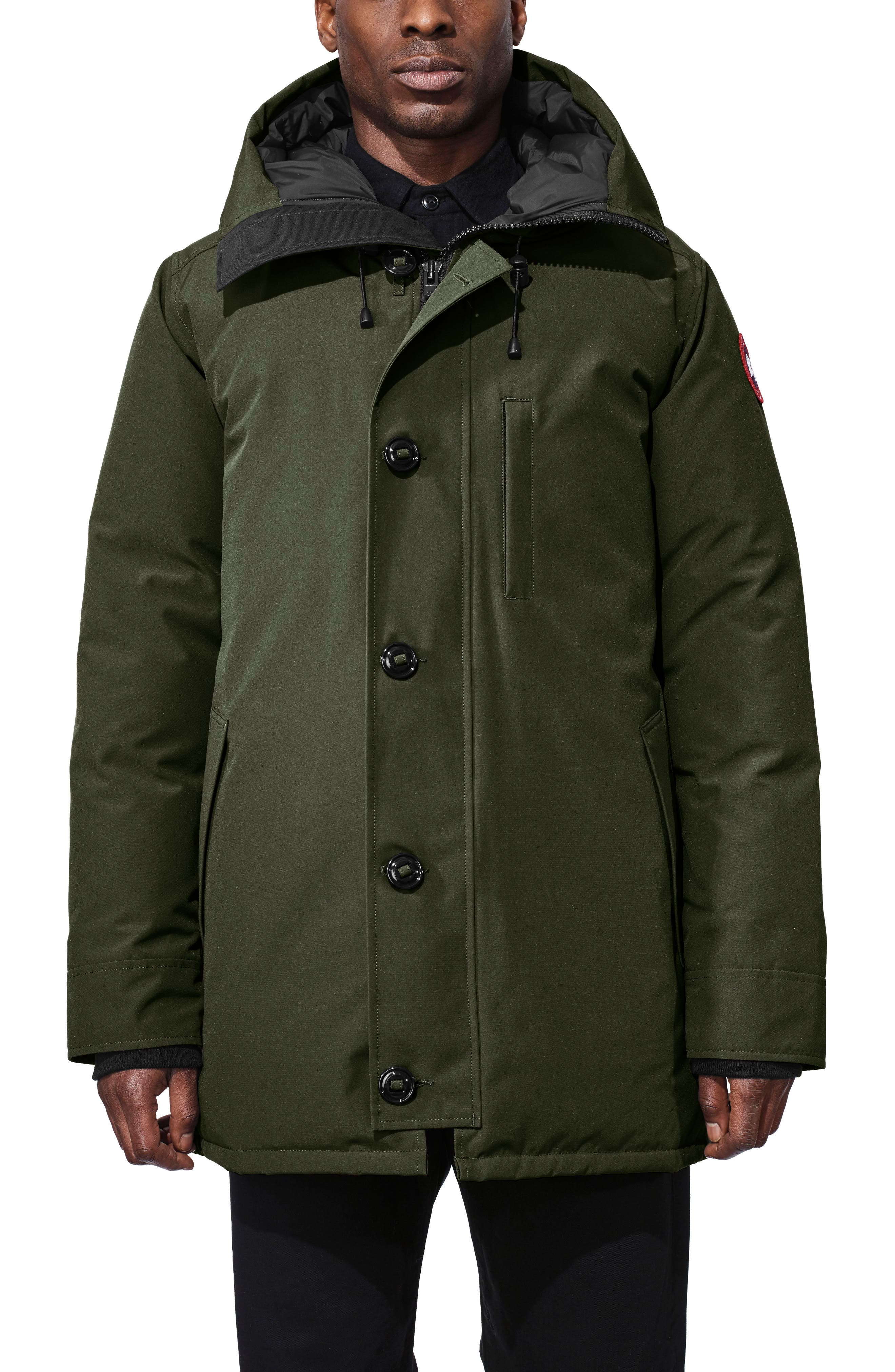 Canada Goose Chateau Slim Fit Down Parka, Green