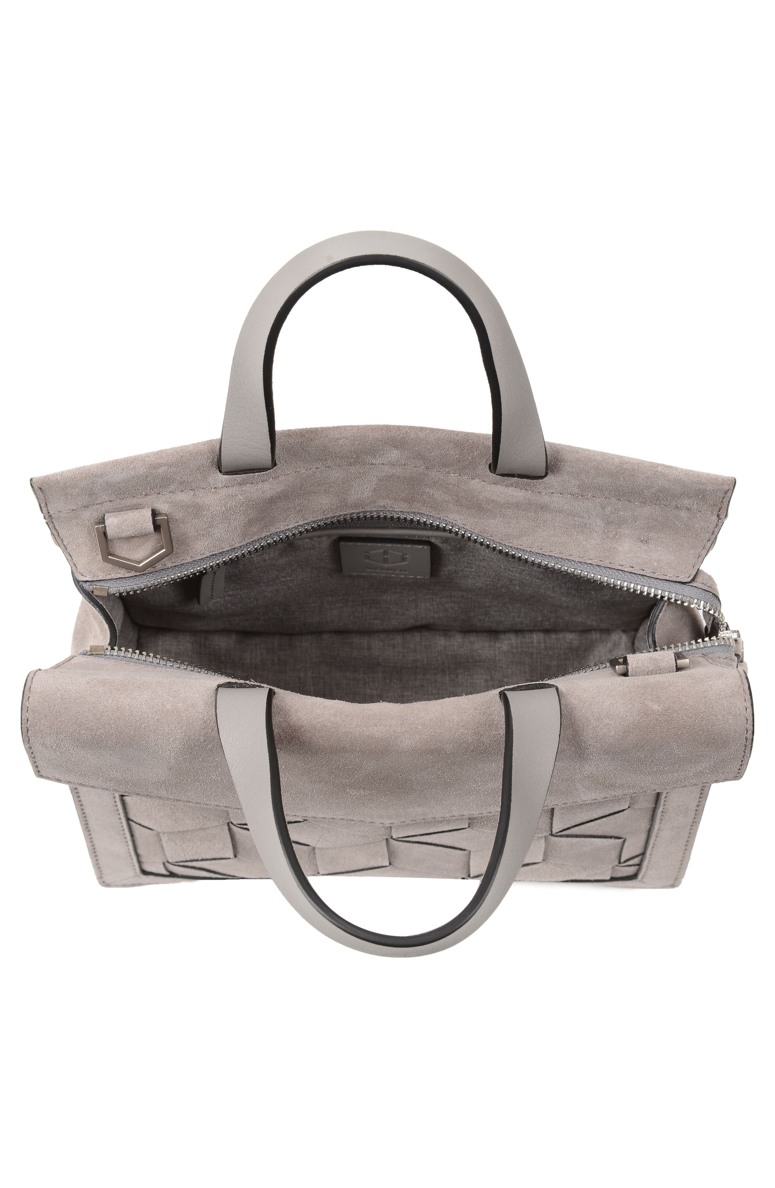 Small Voyager Leather Convertible Satchel,                             Alternate thumbnail 3, color,                             020