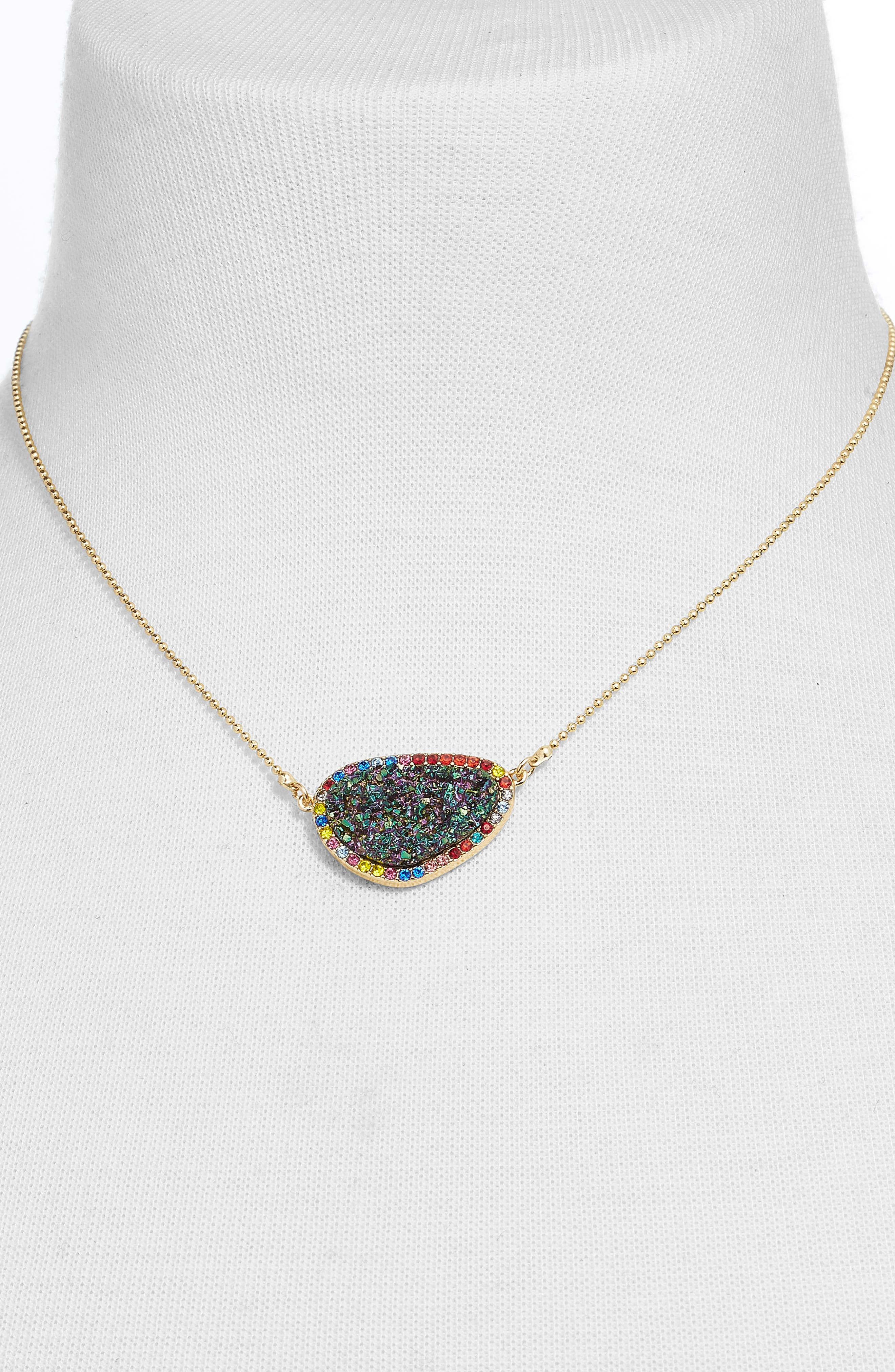 BAUBLEBAR,                             Kerisa Drusy Pendant Necklace,                             Alternate thumbnail 2, color,                             440