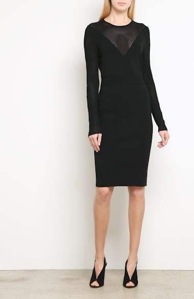 Sheer Detail Knit Dress, video thumbnail