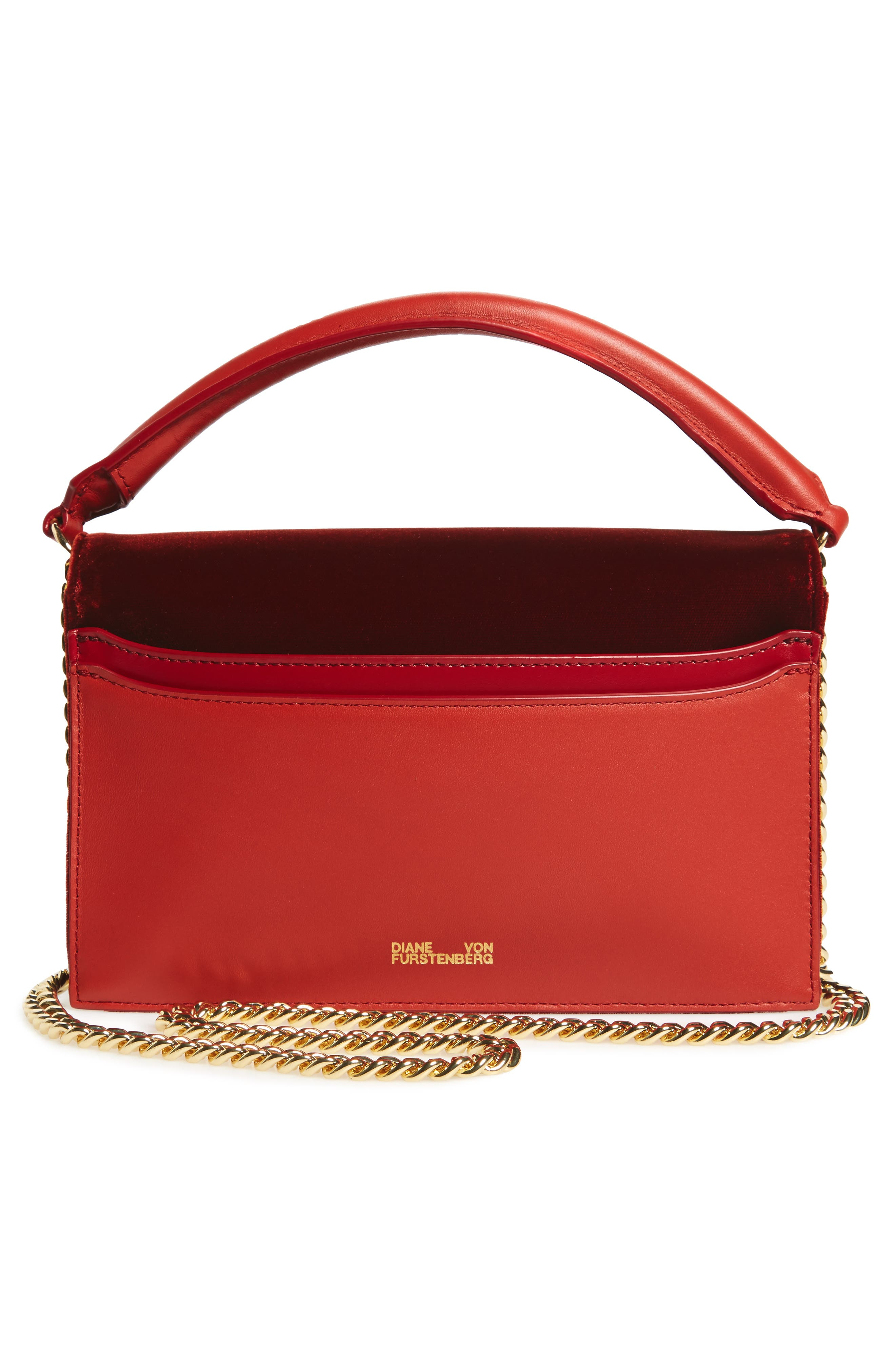 Soirée Velvet Top Handle Bag,                             Alternate thumbnail 3, color,