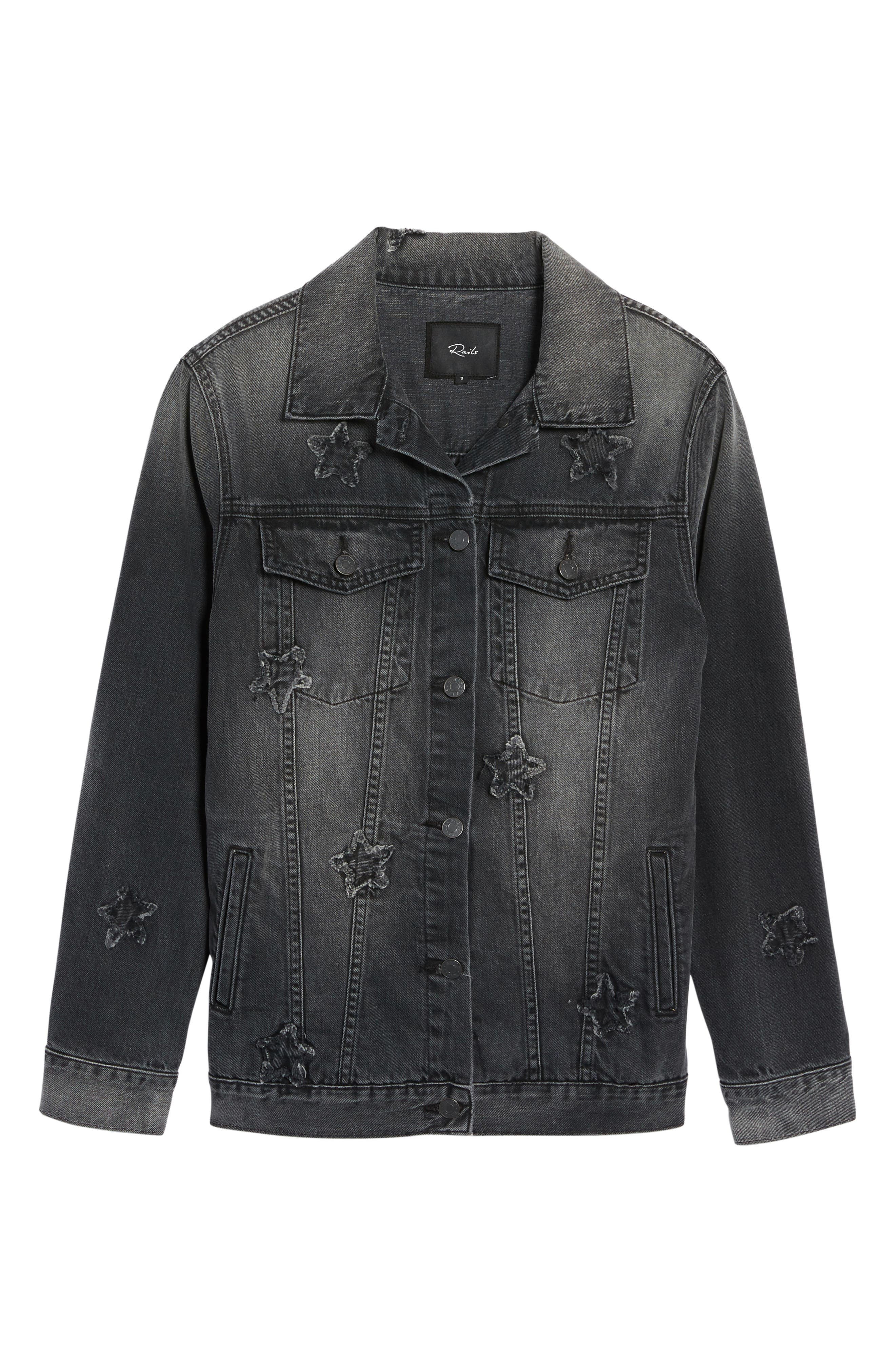 Knox Star Patch Denim Jacket,                             Alternate thumbnail 6, color,                             006