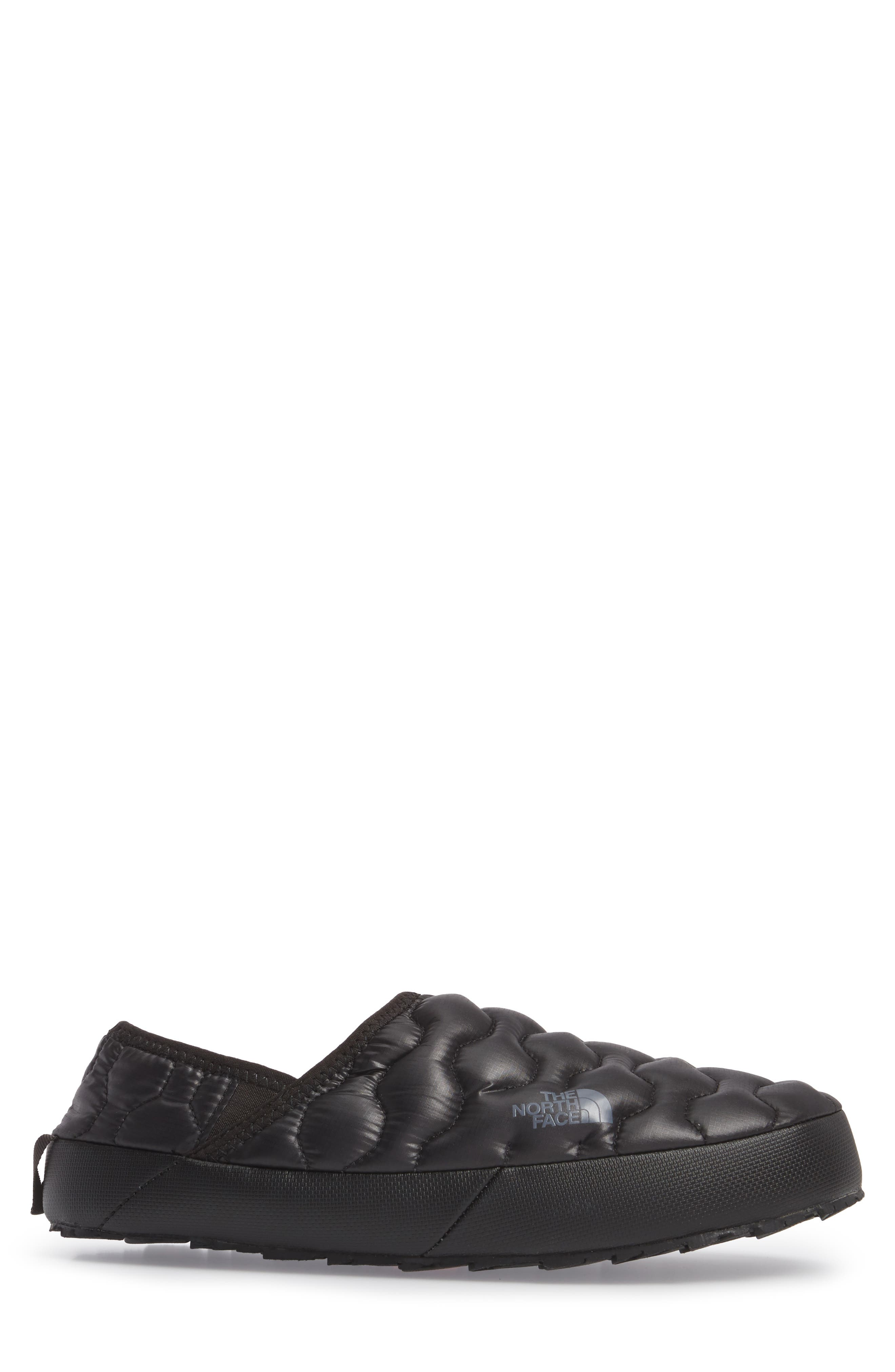 ThermoBall<sup>™</sup> Water-Resistant Traction slipper,                             Alternate thumbnail 3, color,                             SHINY BLACK/ DARK GREY