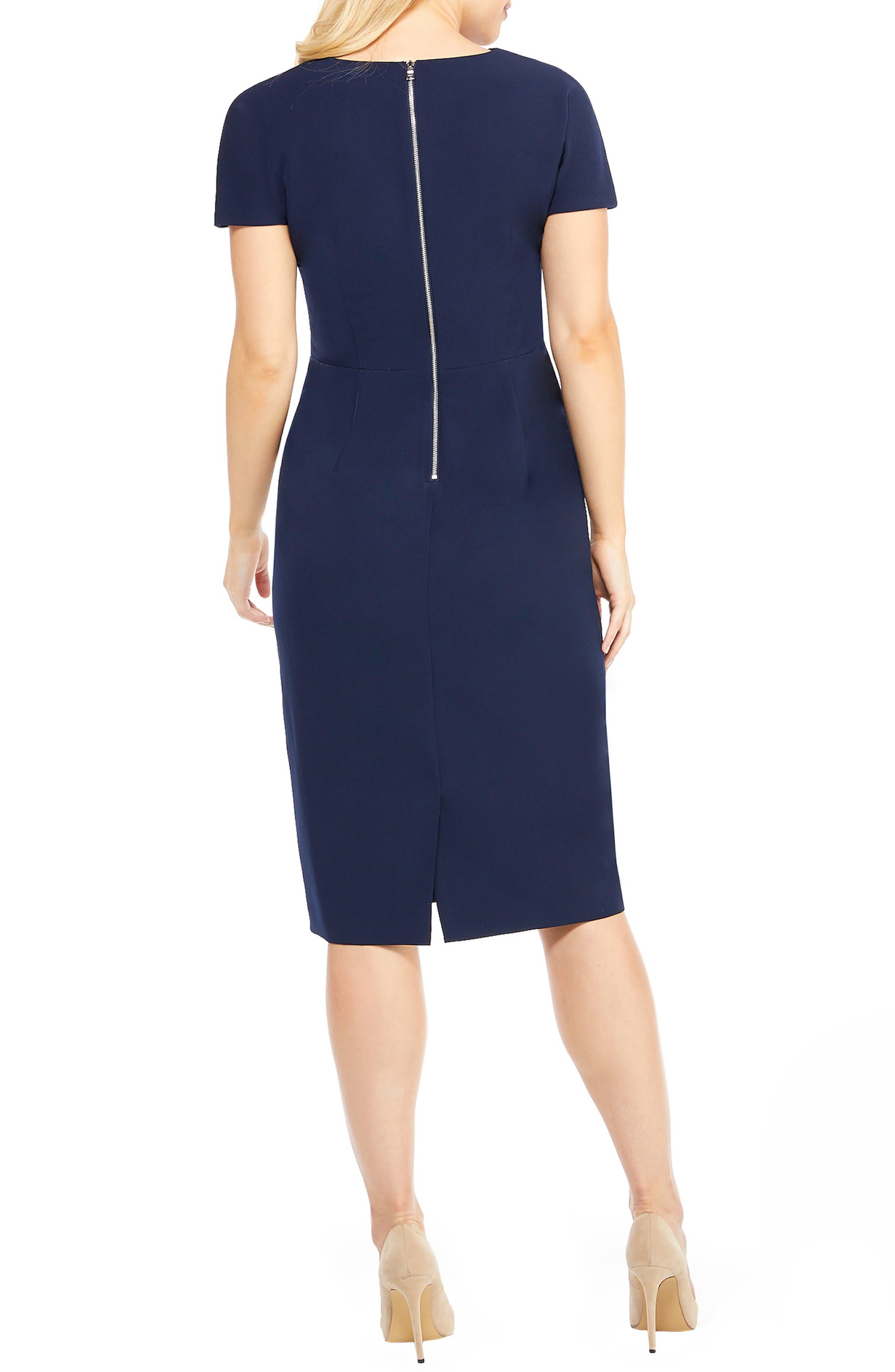 Scallop Sheath Dress,                             Alternate thumbnail 2, color,                             415