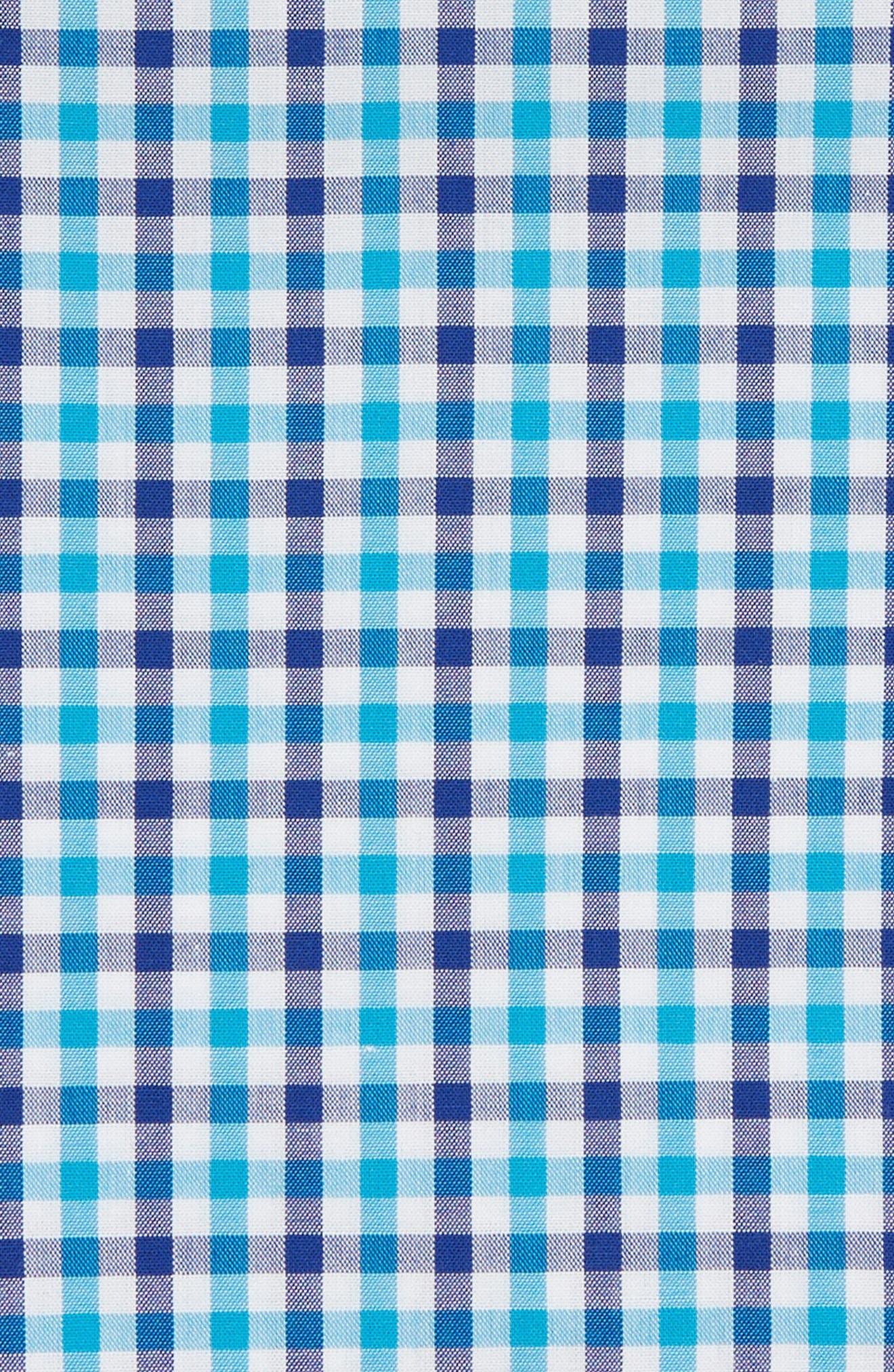 Gingham Pocket Square,                             Alternate thumbnail 3, color,                             TURQUOISE