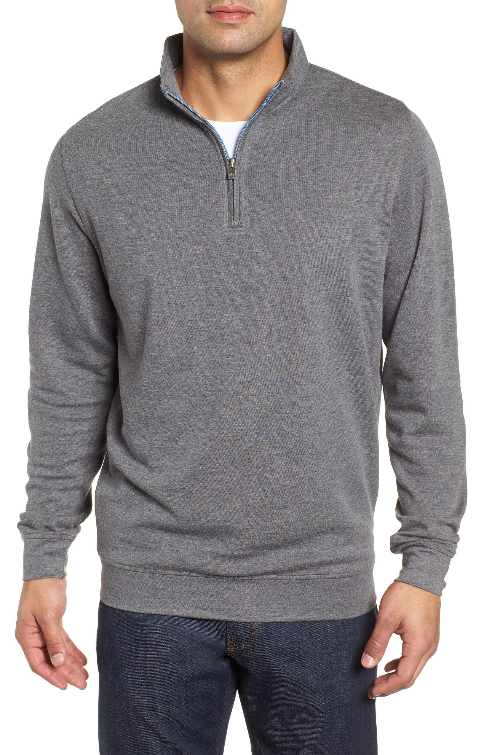 a168e2c69e Peter Millar Crown Comfort Jersey Quarter Zip Pullover
