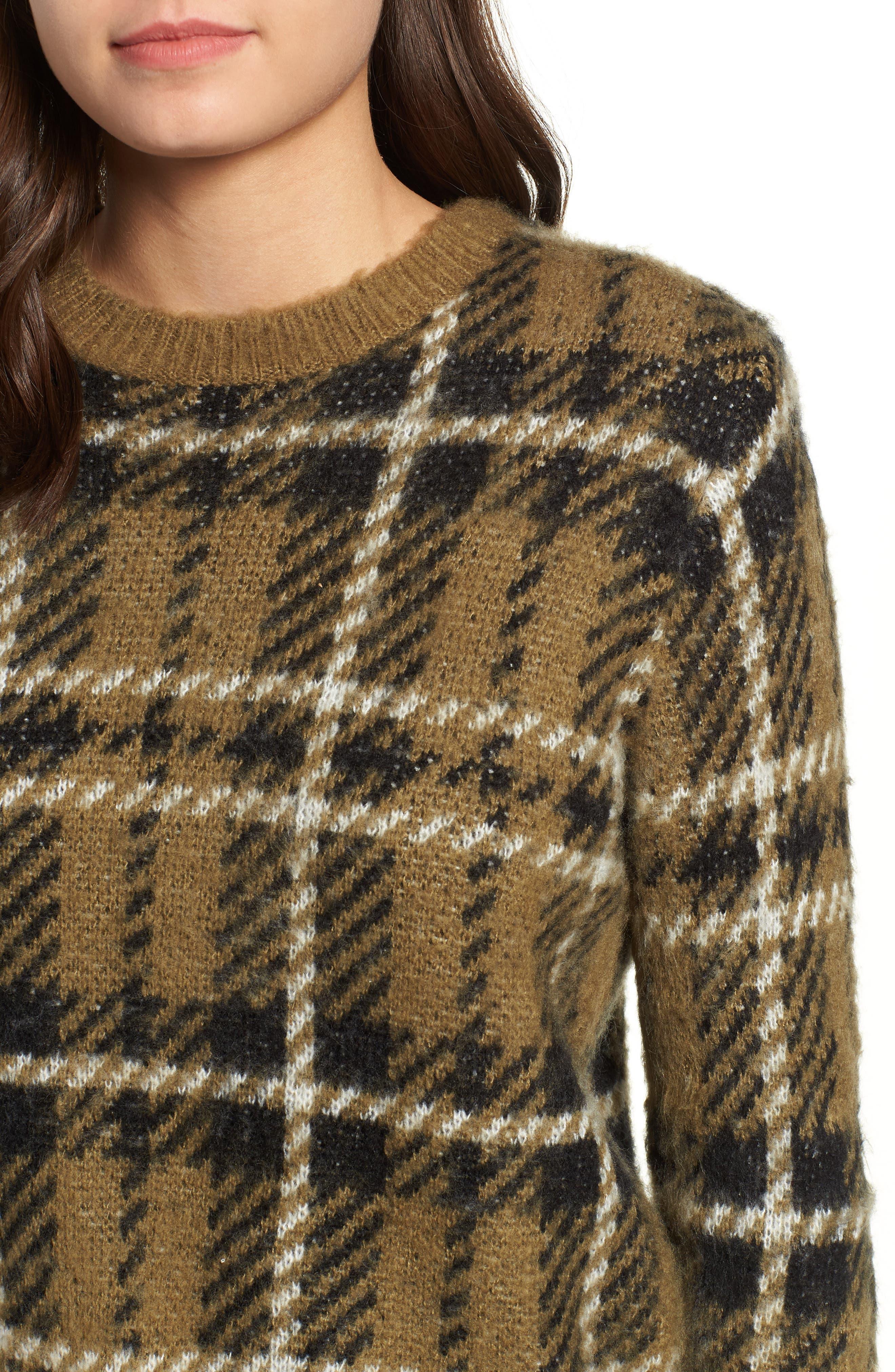 Plaid Sweater,                             Alternate thumbnail 4, color,                             315