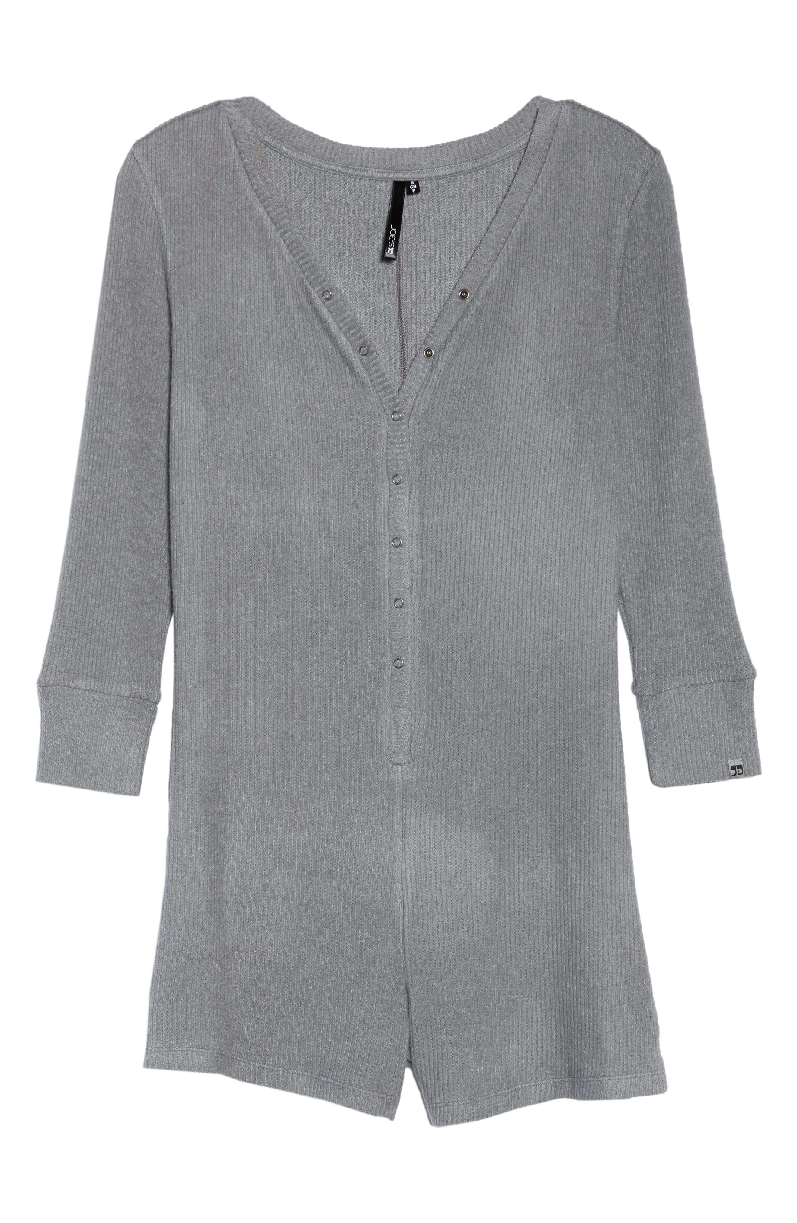 Joes' Henley Romper,                             Alternate thumbnail 6, color,                             HEATHER GRAY