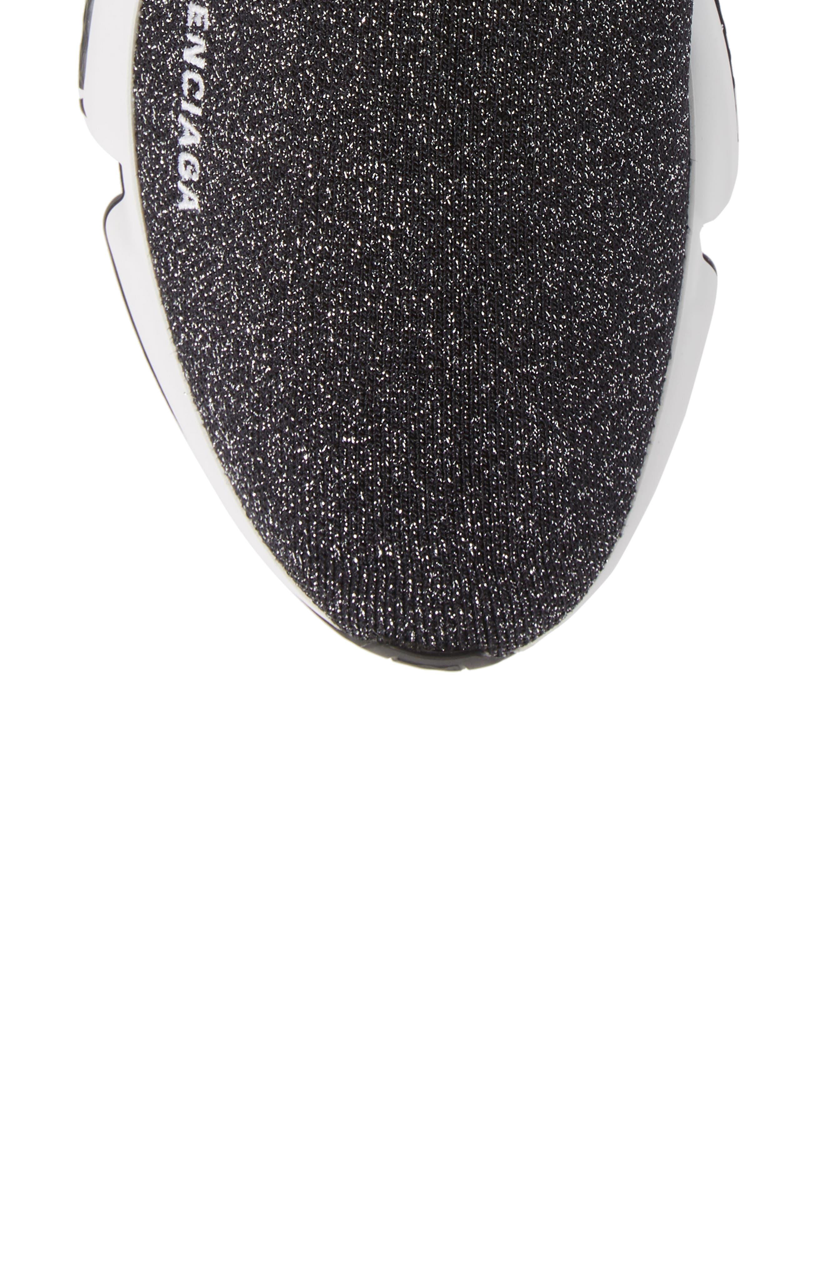 Speed Knit Sneaker,                             Alternate thumbnail 5, color,                             BLACK PEPPER