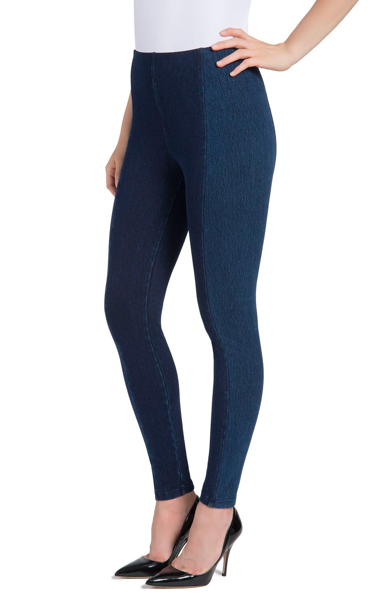 Marley Denim Leggings,                             Alternate thumbnail 6, color,