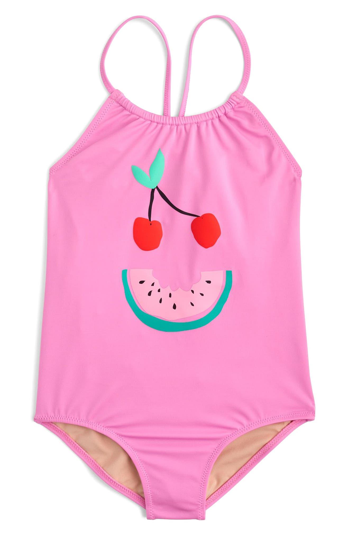 Fruit Face One-Piece Swimsuit,                             Main thumbnail 1, color,                             650