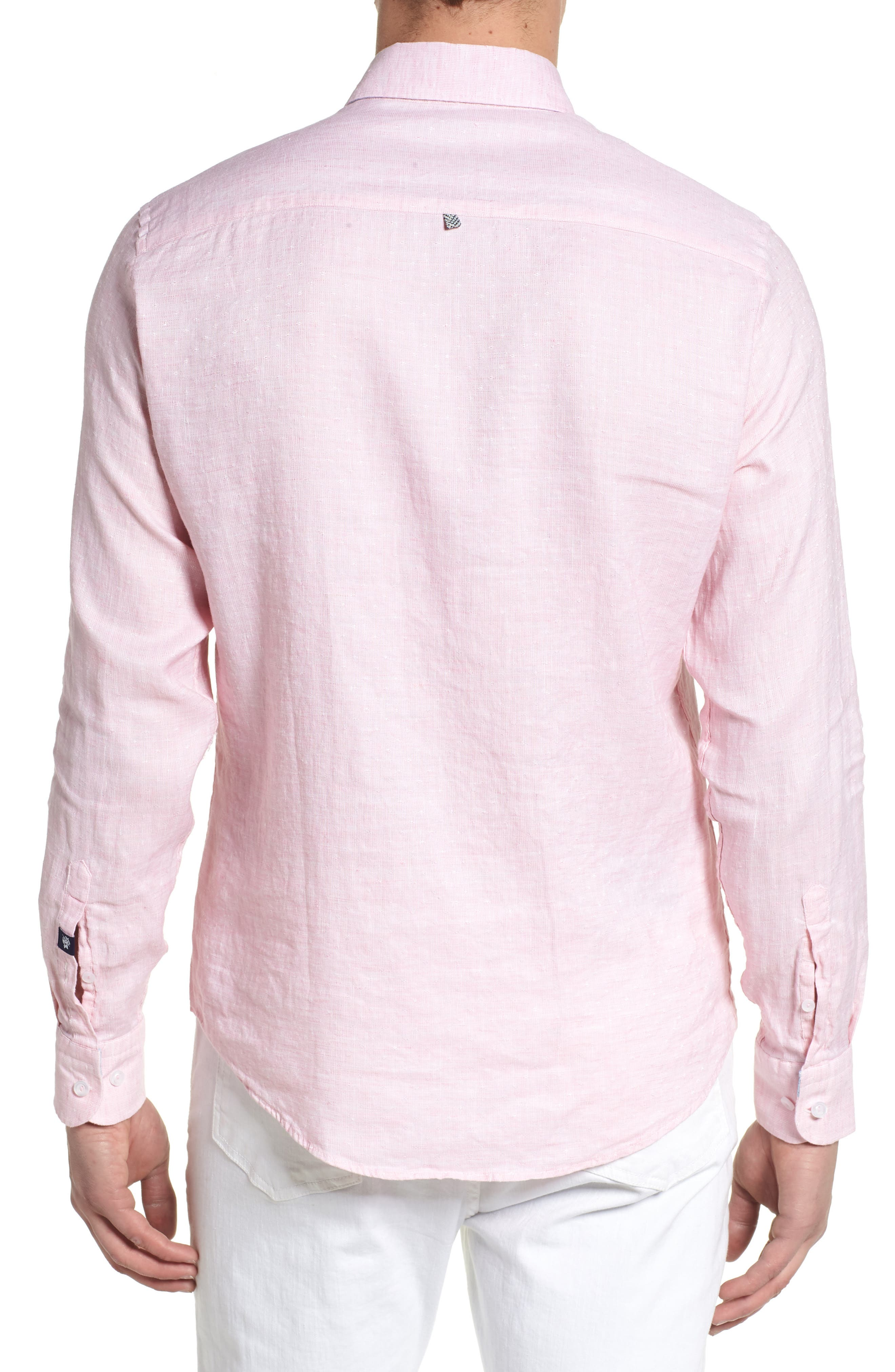 Linen Blend Sport Shirt,                             Alternate thumbnail 6, color,