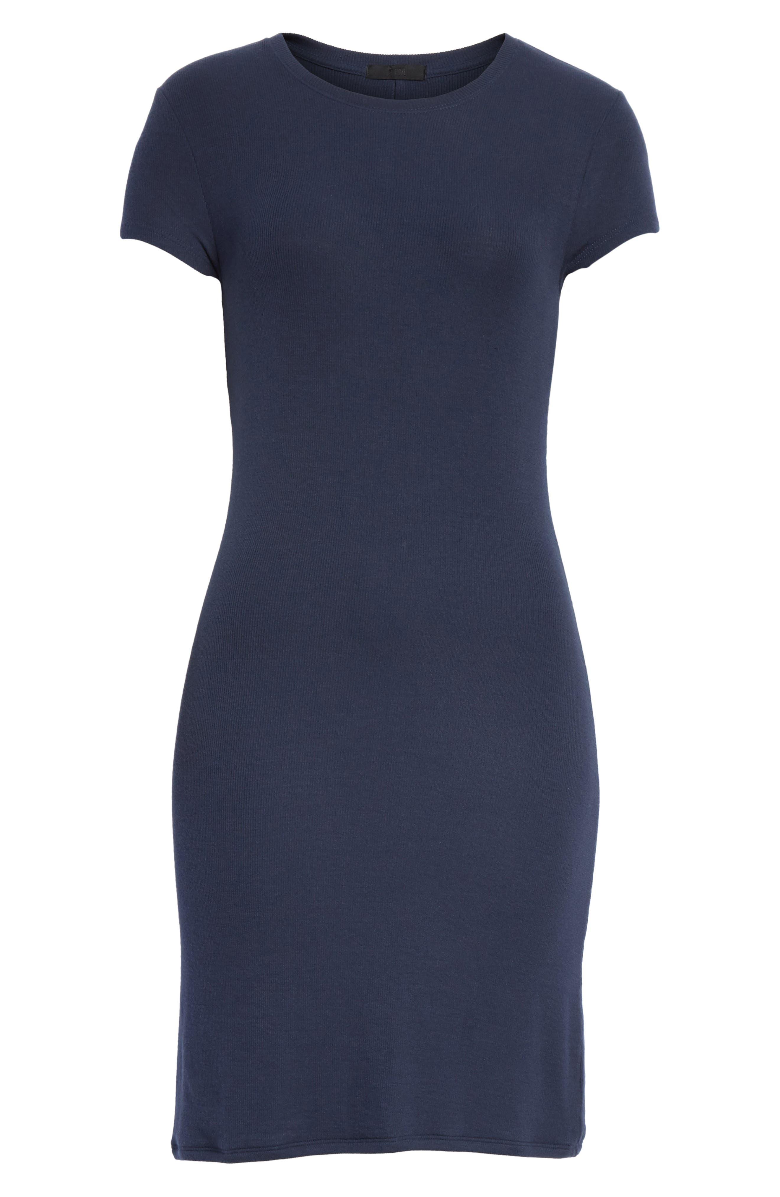 Knit Stretch Modal Dress,                             Alternate thumbnail 6, color,