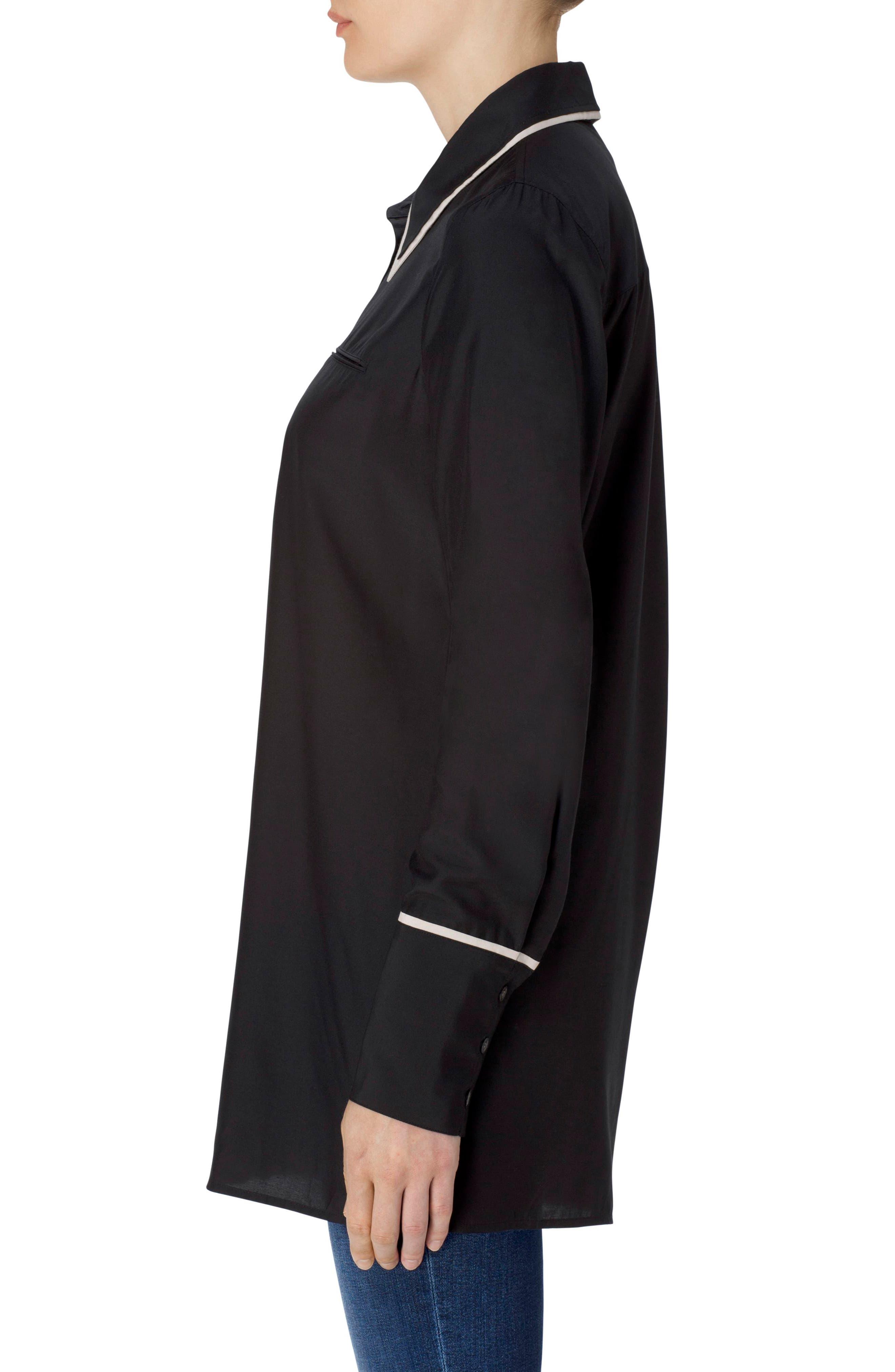 Blake Oversize Shirt,                             Alternate thumbnail 3, color,                             001