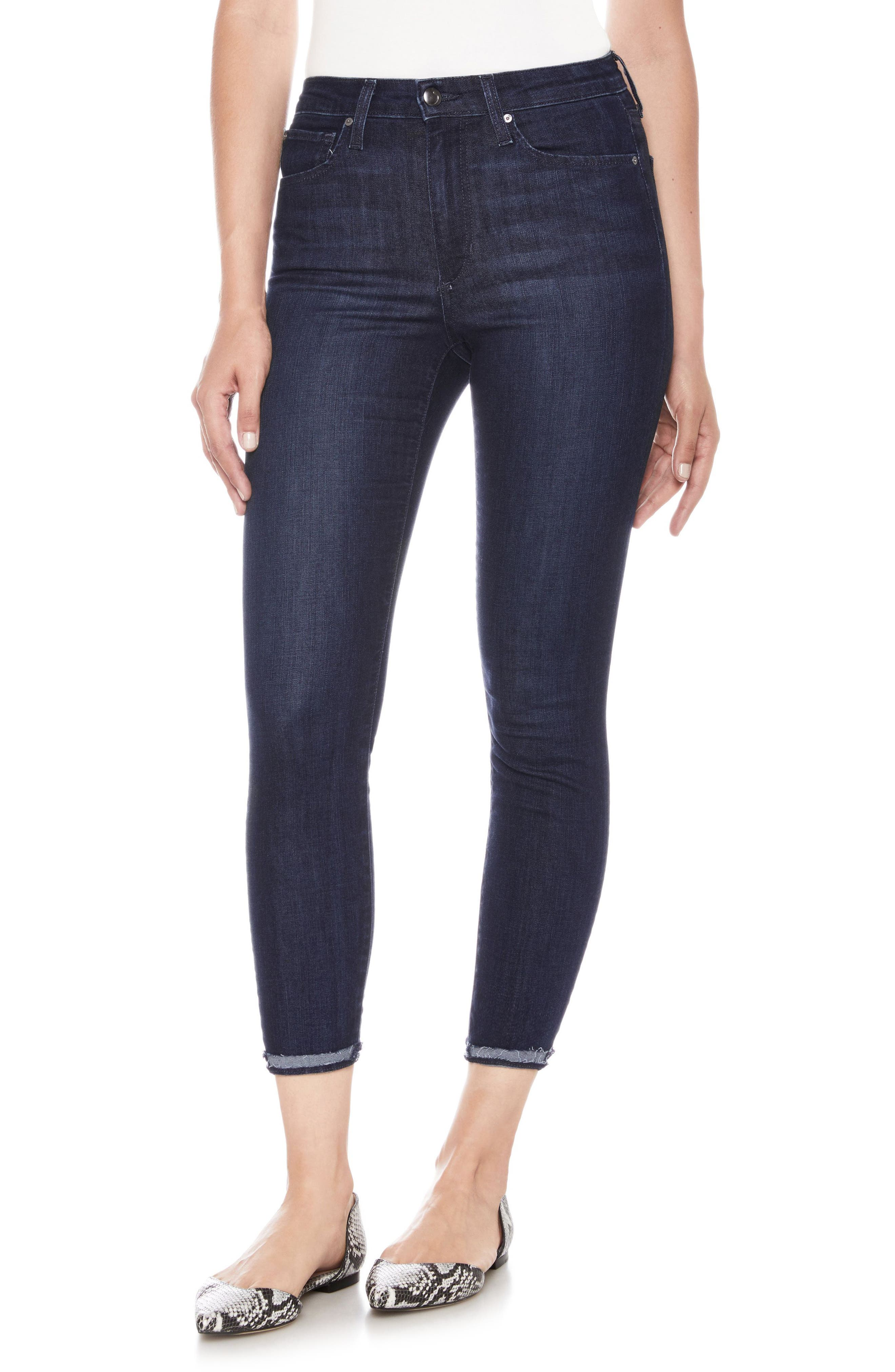 Charlie High Waist Crop Skinny Jeans,                         Main,                         color, LAUGHLIN