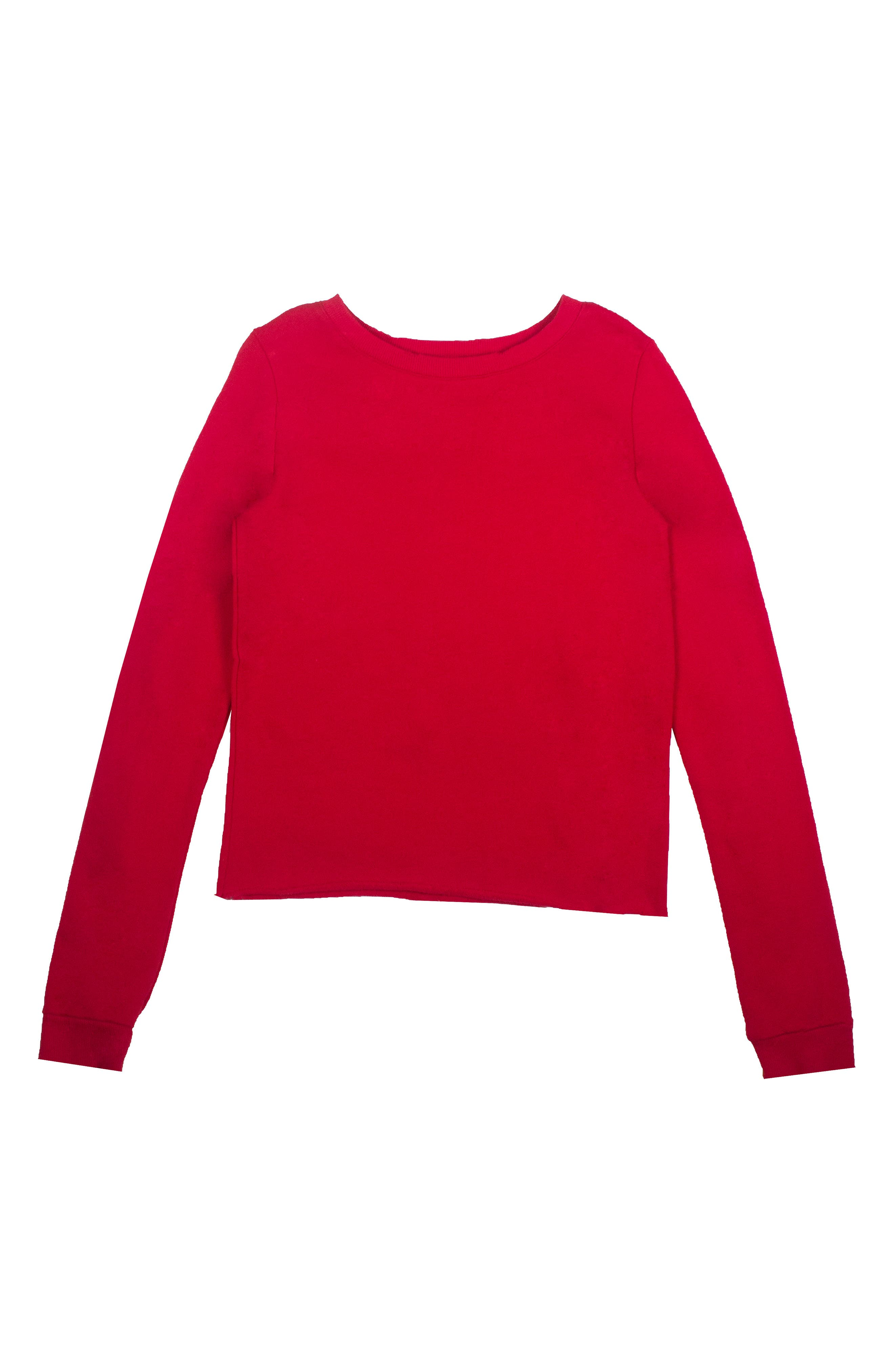 Ruffle Sweatshirt,                             Alternate thumbnail 2, color,                             600