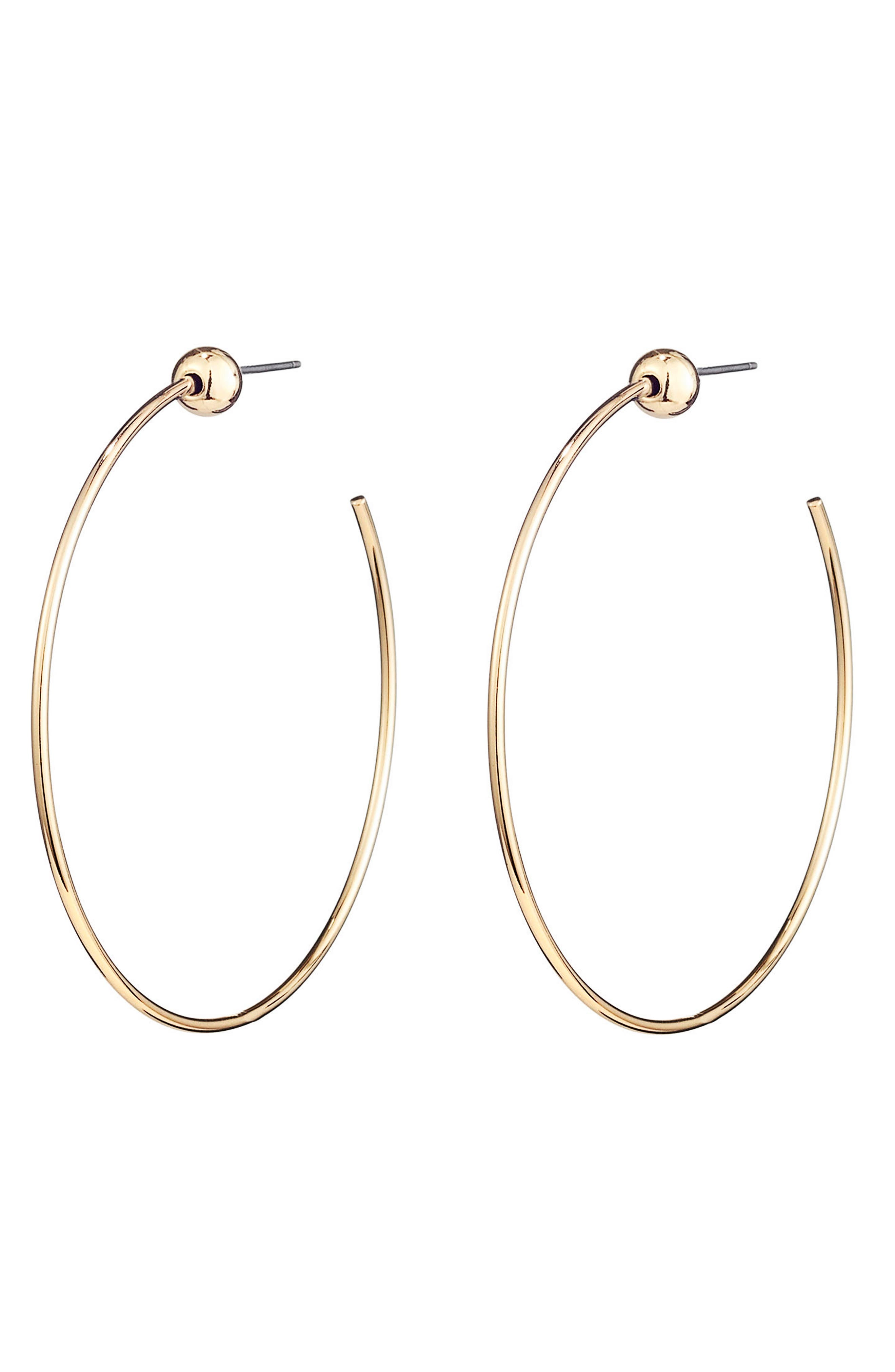 Icon Small Hoop Earrings,                             Alternate thumbnail 3, color,                             GOLD