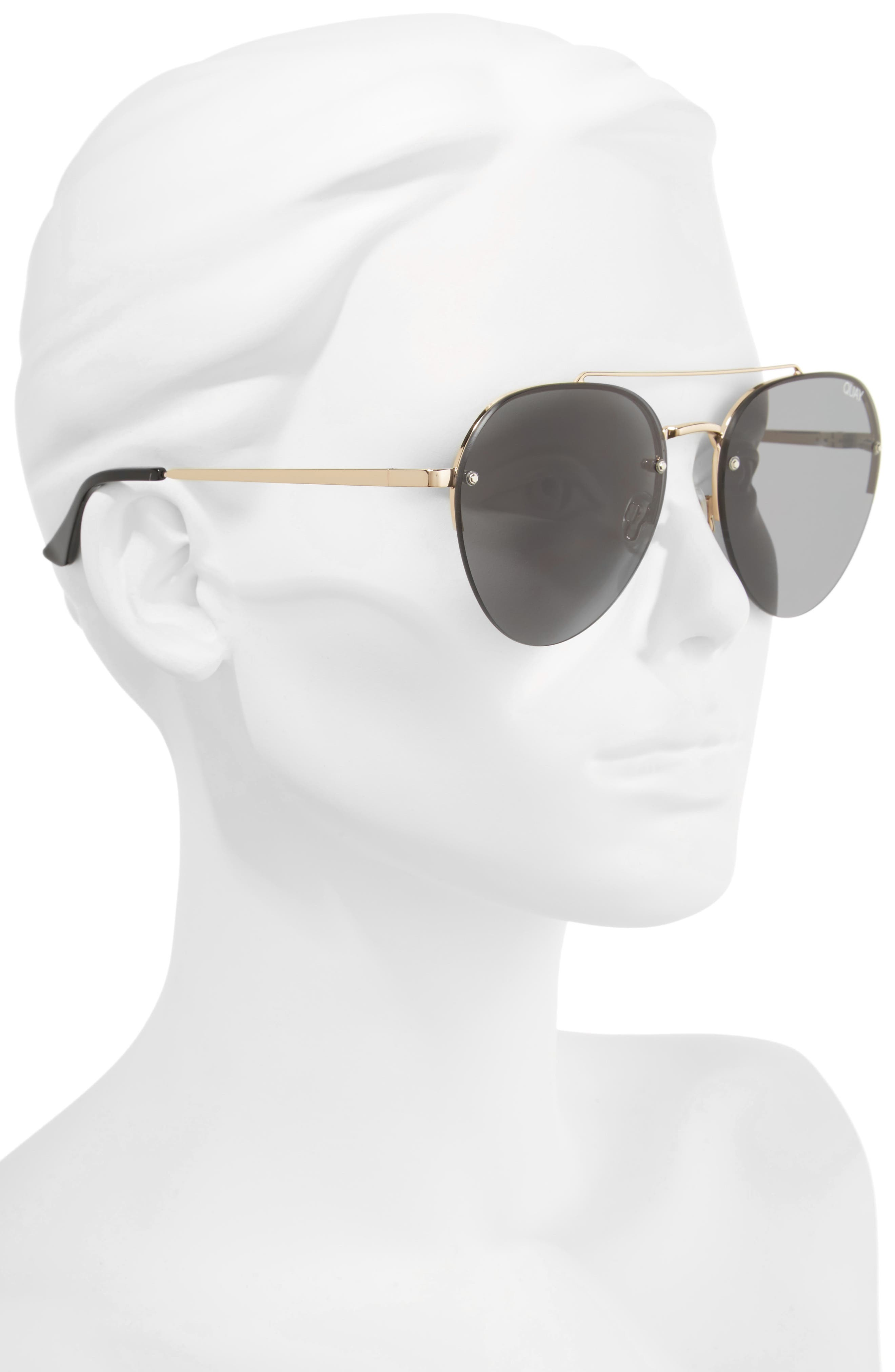 Somerset 65mm Aviator Sunglasses,                             Alternate thumbnail 2, color,                             GOLD/ SMOKE