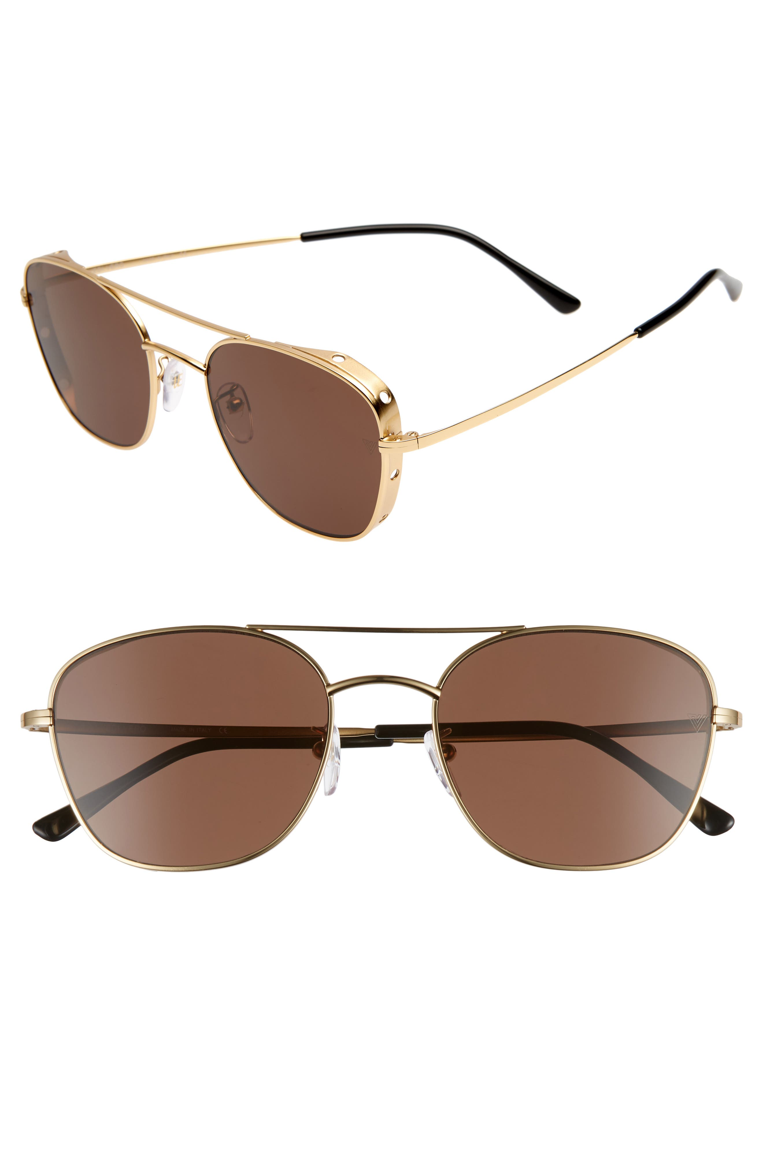 VEDI VERO 56Mm Aviator Sunglasses - Gold