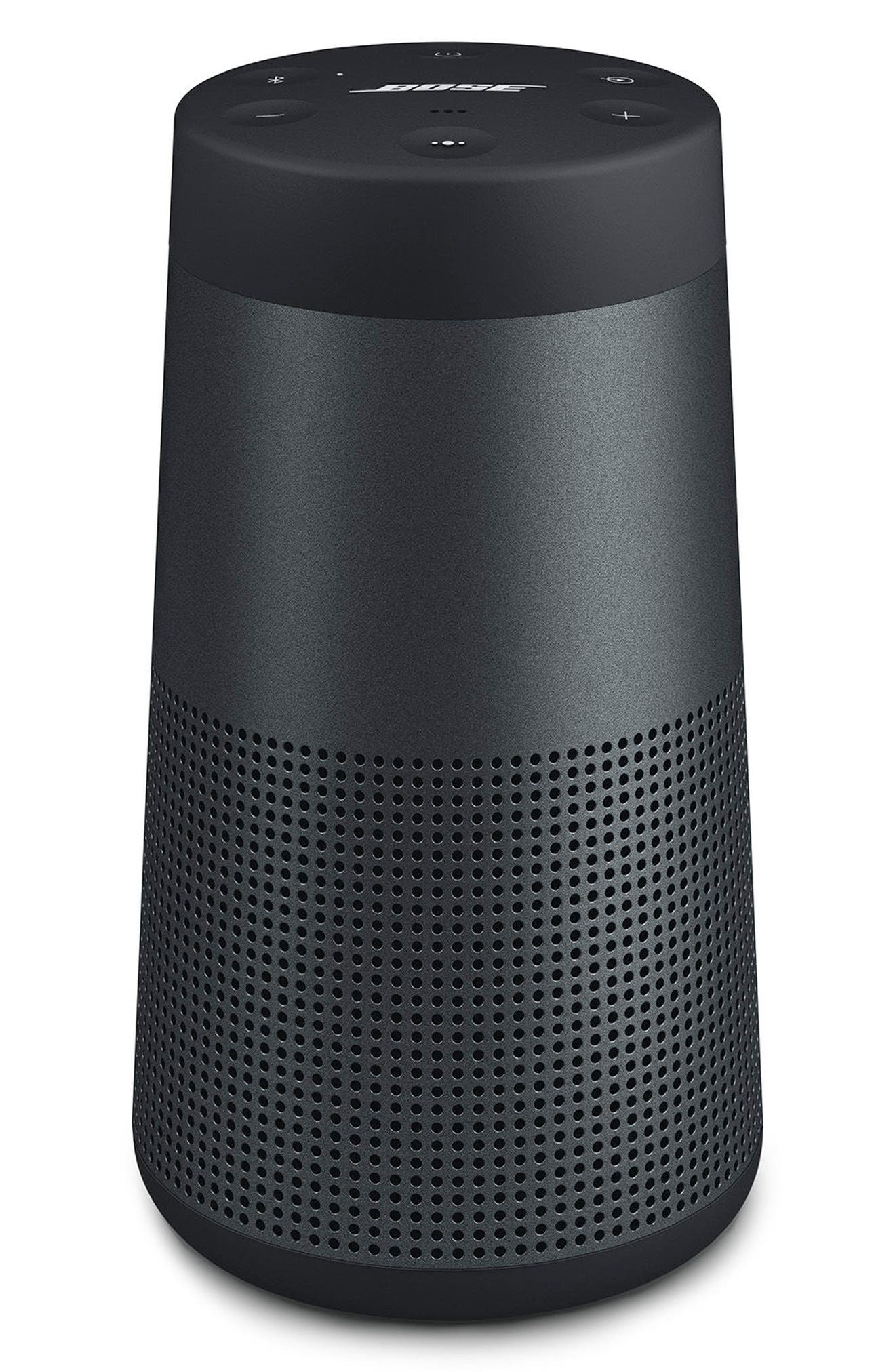 SoundLink<sup>®</sup> Revolve Bluetooth<sup>®</sup> Speaker,                             Main thumbnail 1, color,                             BLACK