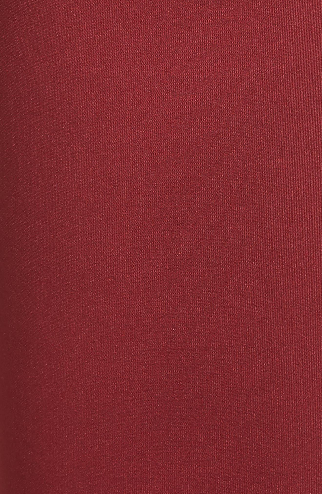 Microscuba Side Slit Track Pants,                             Alternate thumbnail 5, color,                             BURGUNDY