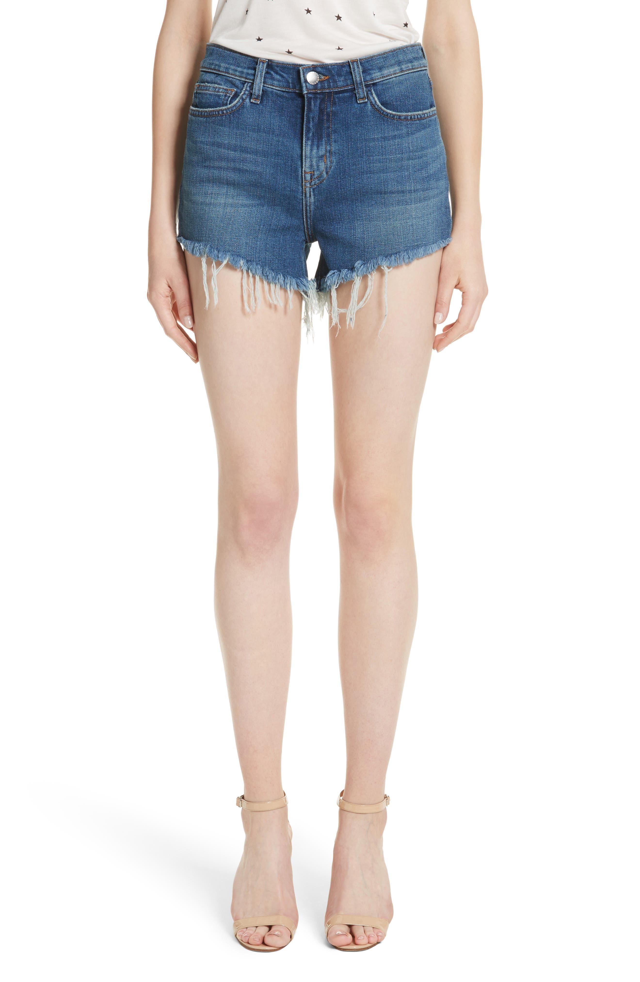 Ryland High Waist Denim Shorts,                         Main,                         color, AUTHENTIQUE
