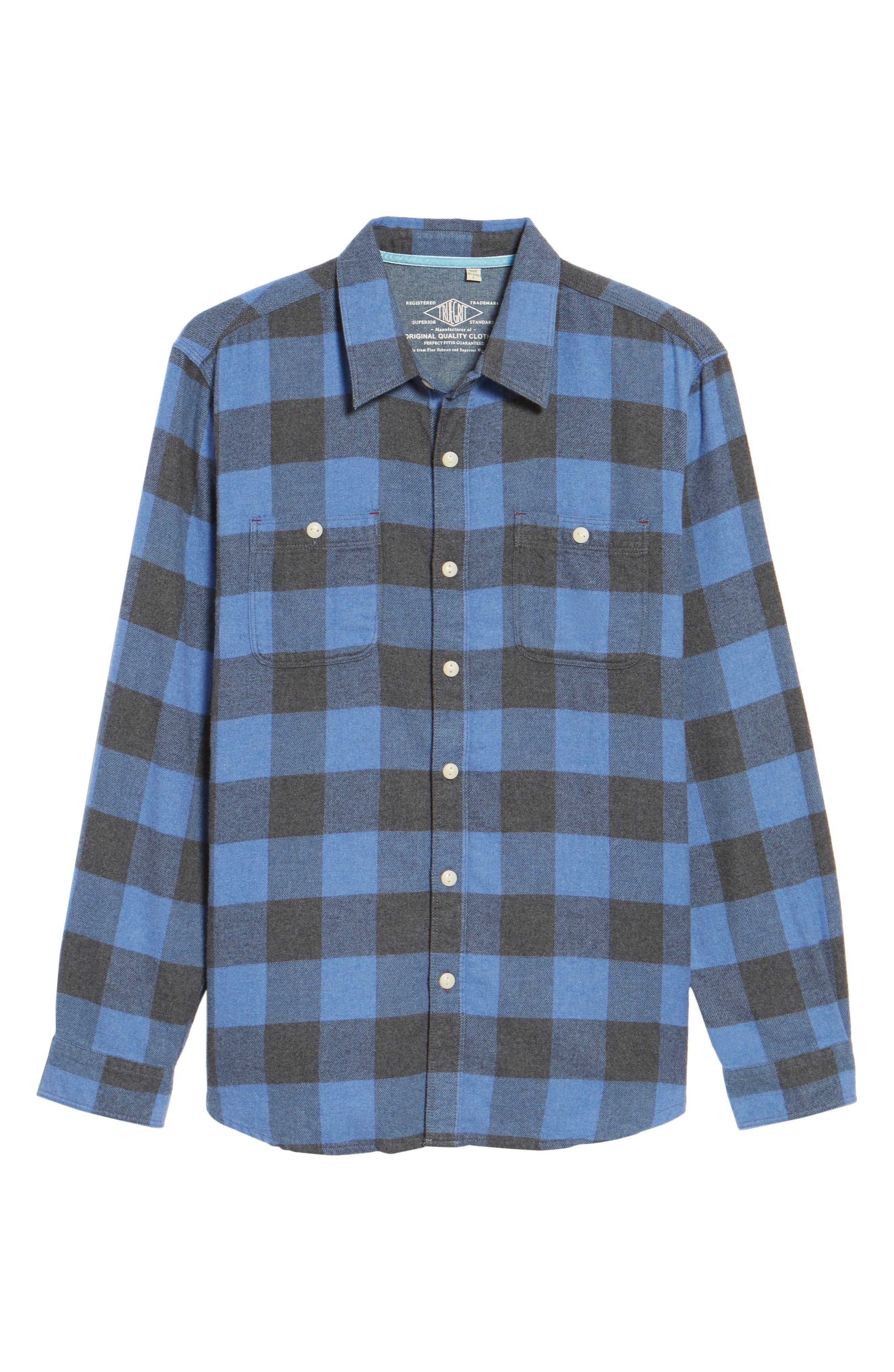 Road Trip Check Flannel Shirt,                             Alternate thumbnail 6, color,