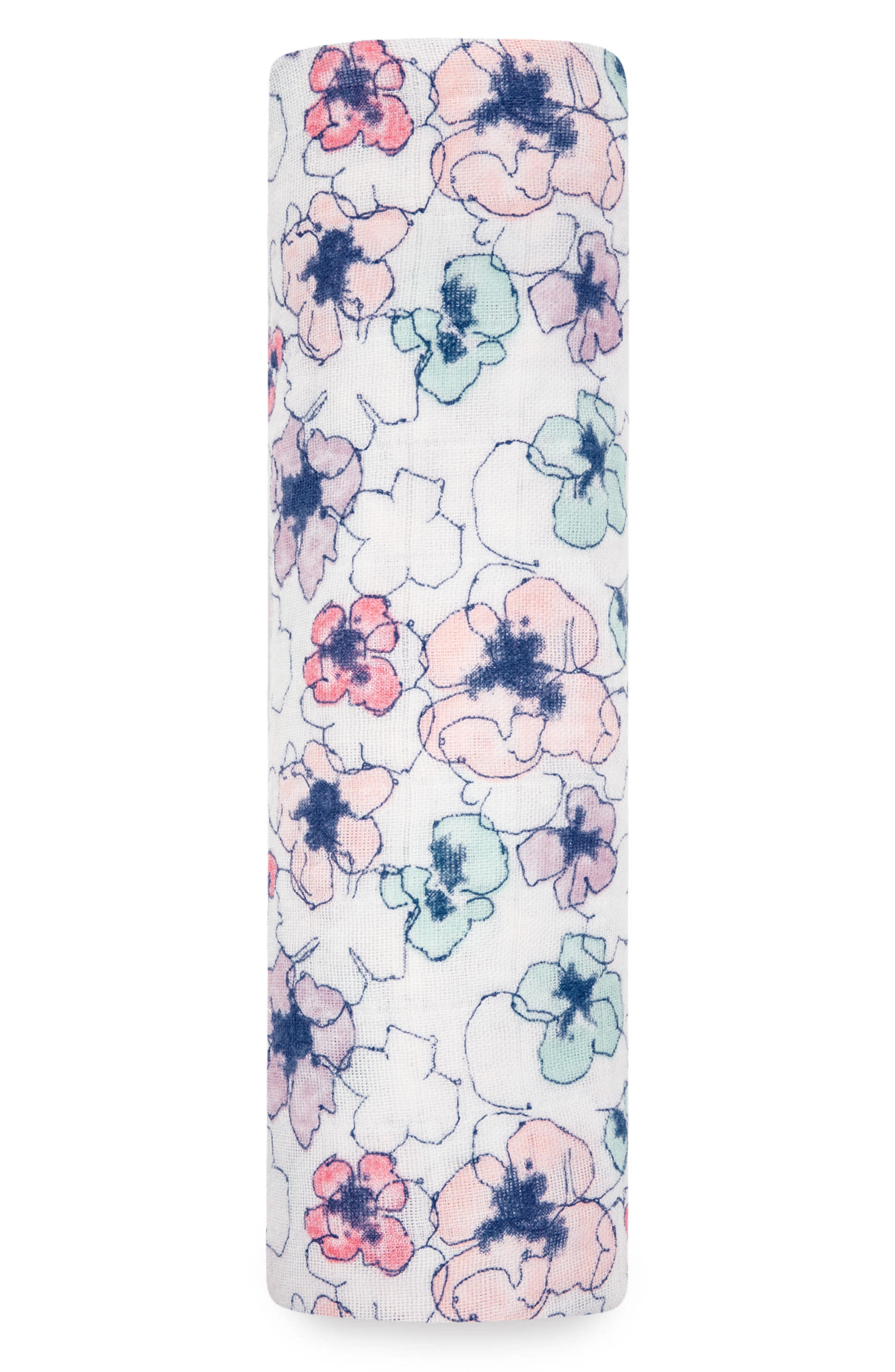 Classic Swaddling Cloth,                             Main thumbnail 1, color,                             TRAIL BLOOMS