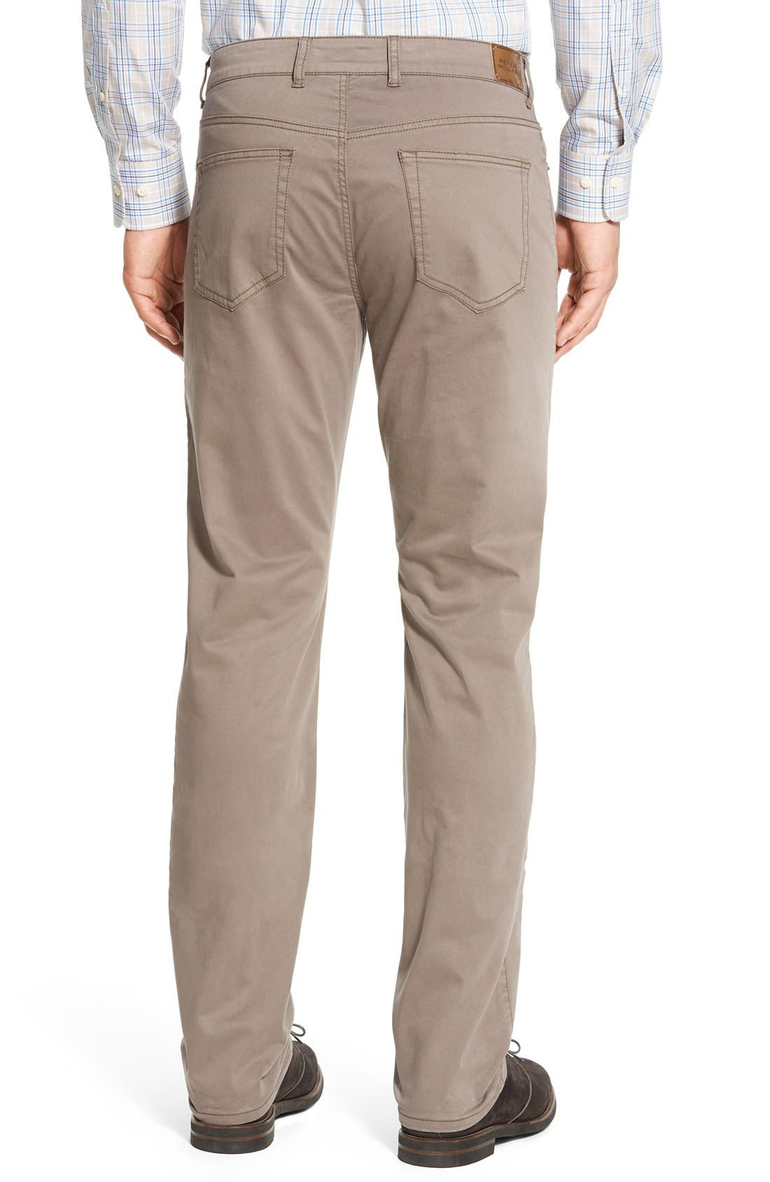 PETER MILLAR,                             Stretch Sateen Five Pocket Pants,                             Alternate thumbnail 3, color,                             020