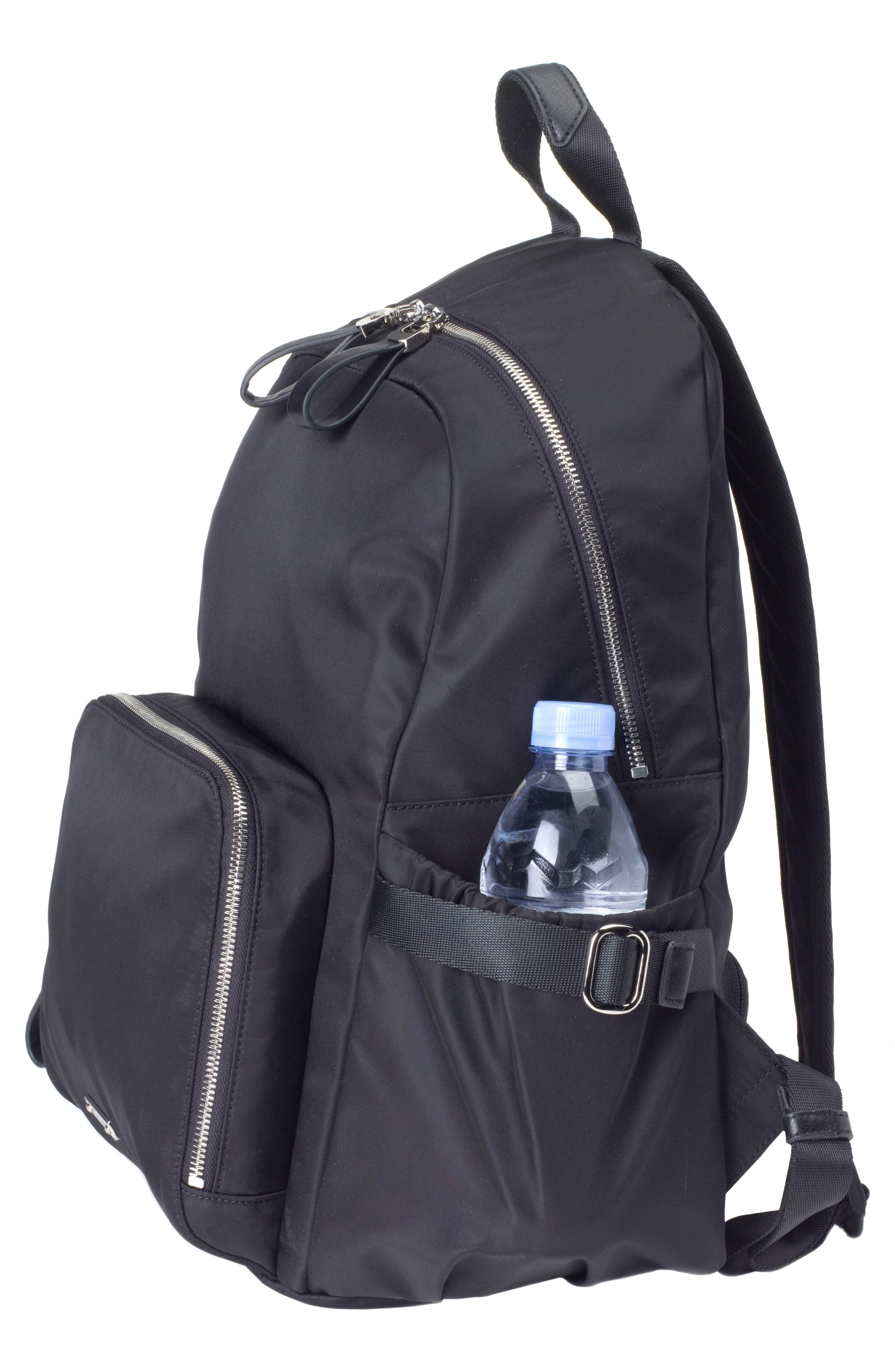 Hero Water Resistant Nylon Backpack Diaper Bag,                             Alternate thumbnail 13, color,                             BLACK