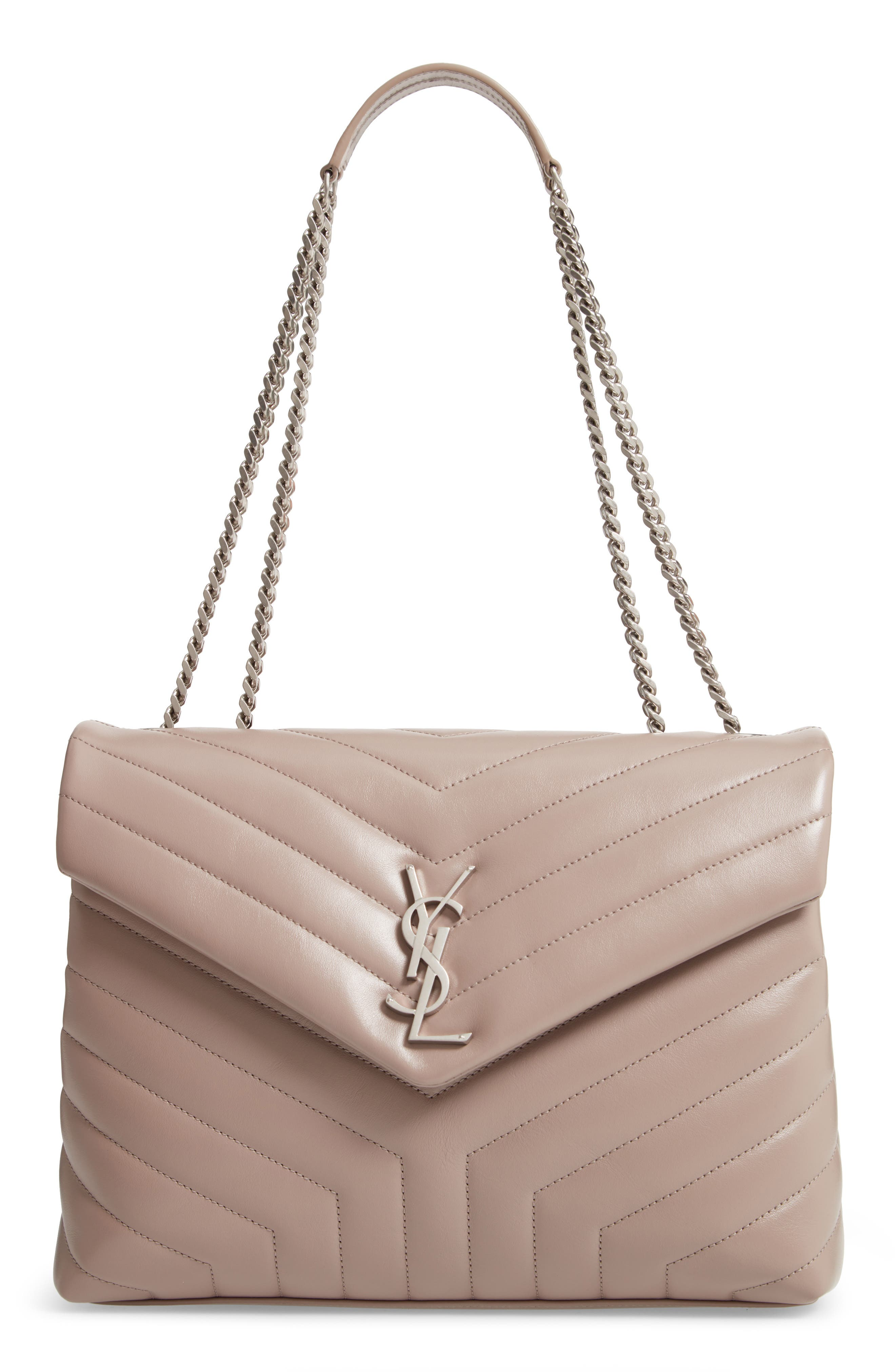 Monogram Loulou Medium Leather Shoulder Bag - Beige, Tan