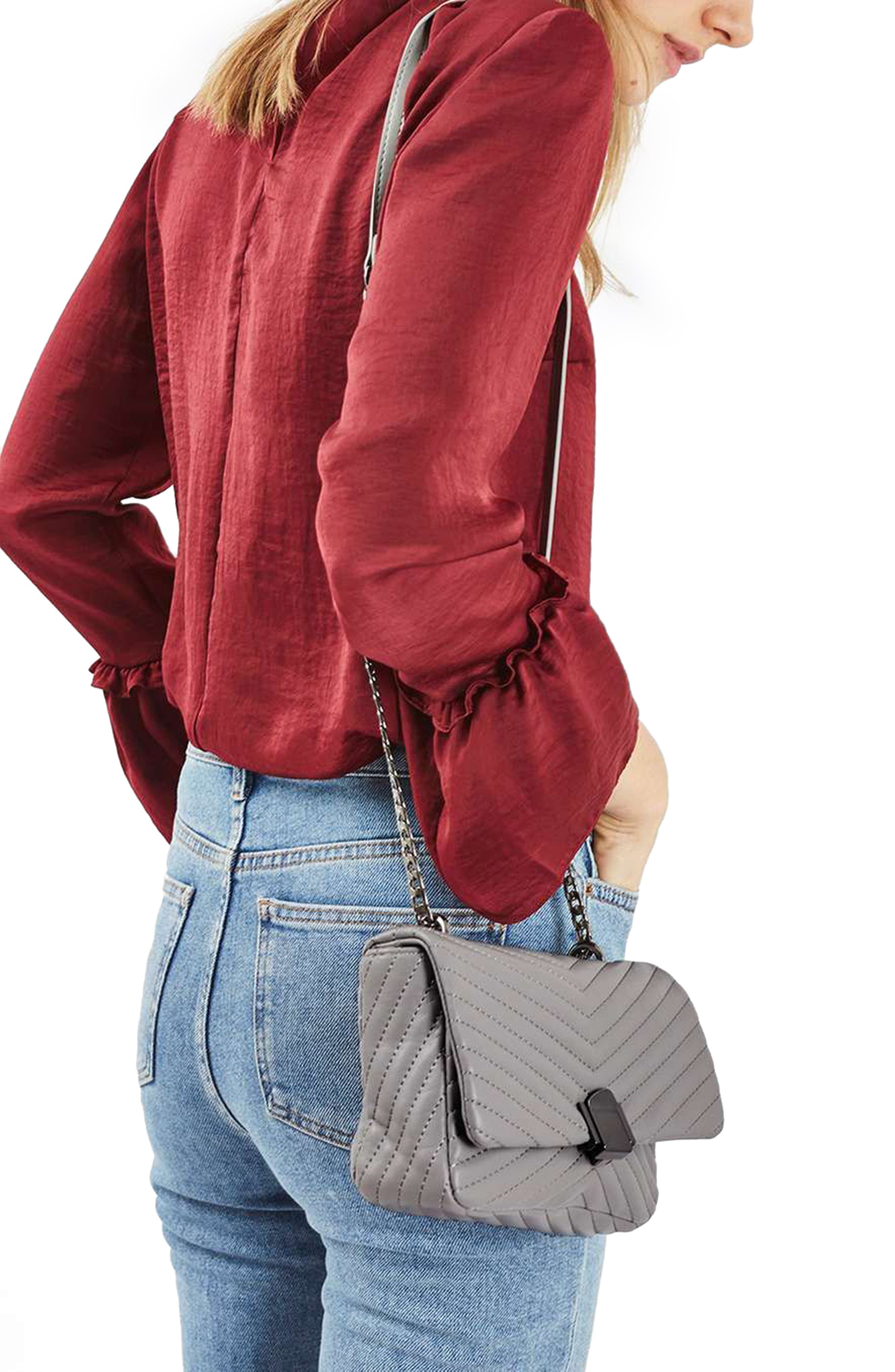 Quilted Crossbody Bag,                             Alternate thumbnail 6, color,