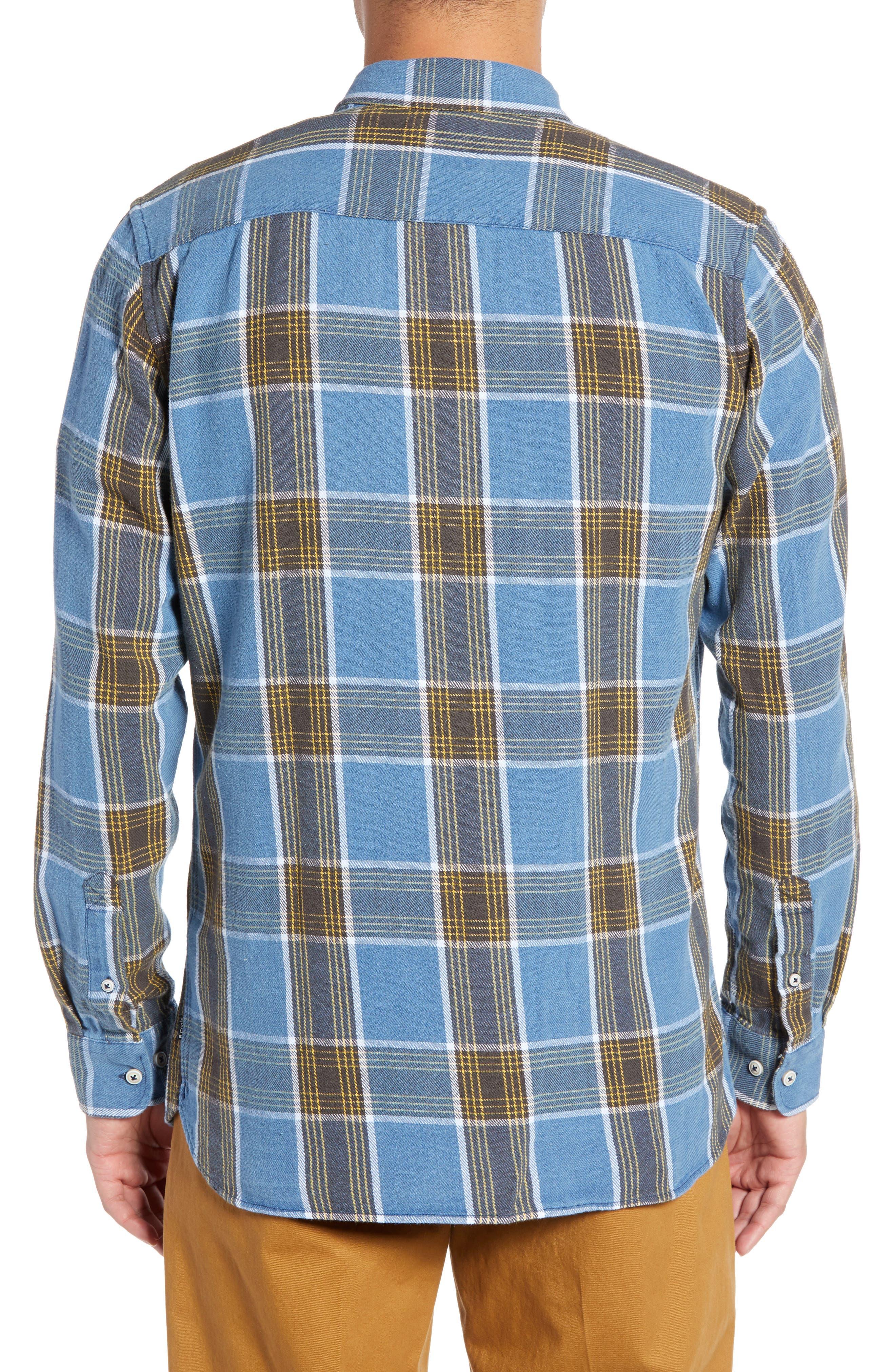Plaid Flannel Shirt,                             Alternate thumbnail 3, color,                             450