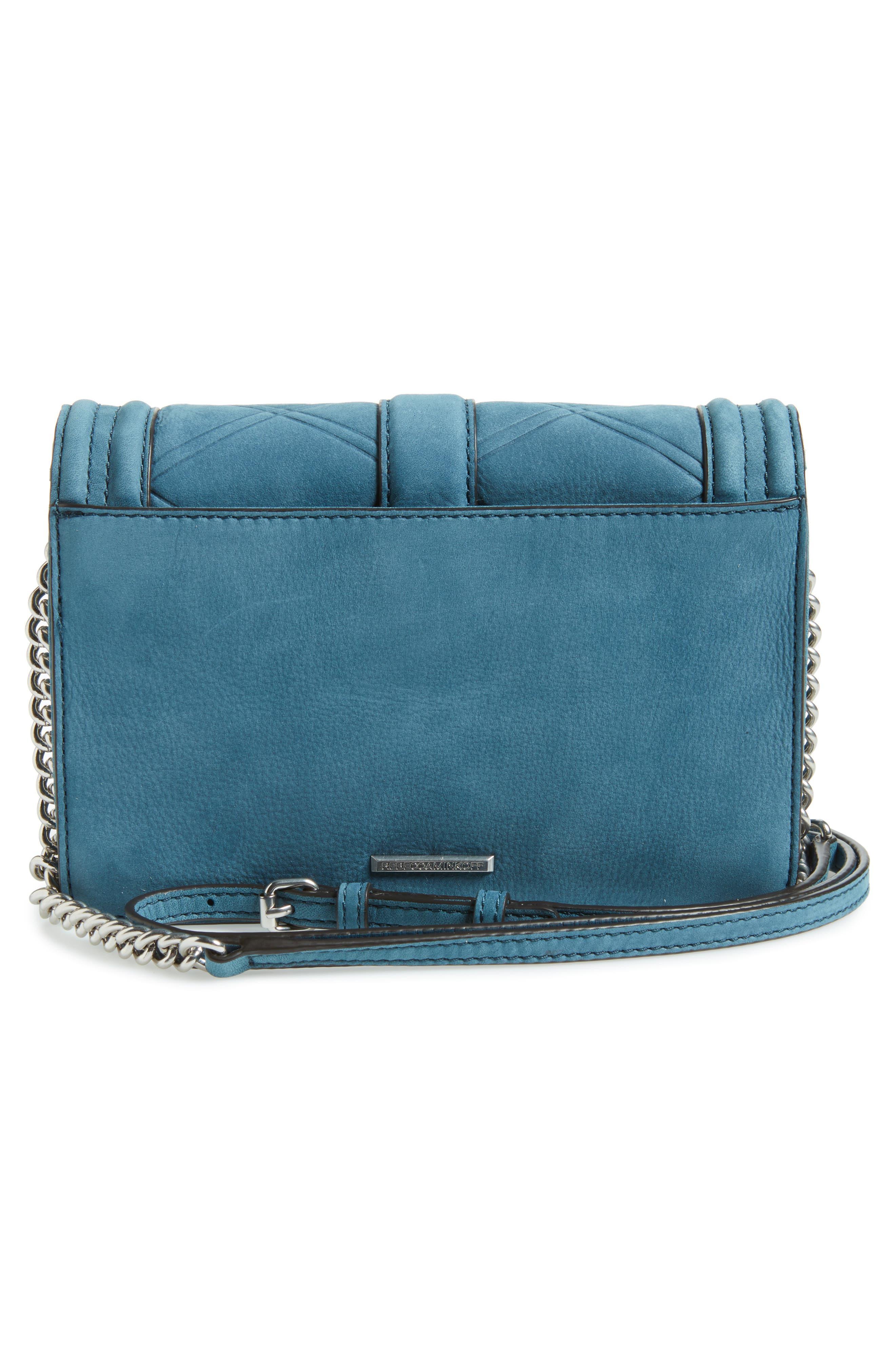 Small Love Nubuck Leather Crossbody Bag,                             Alternate thumbnail 13, color,