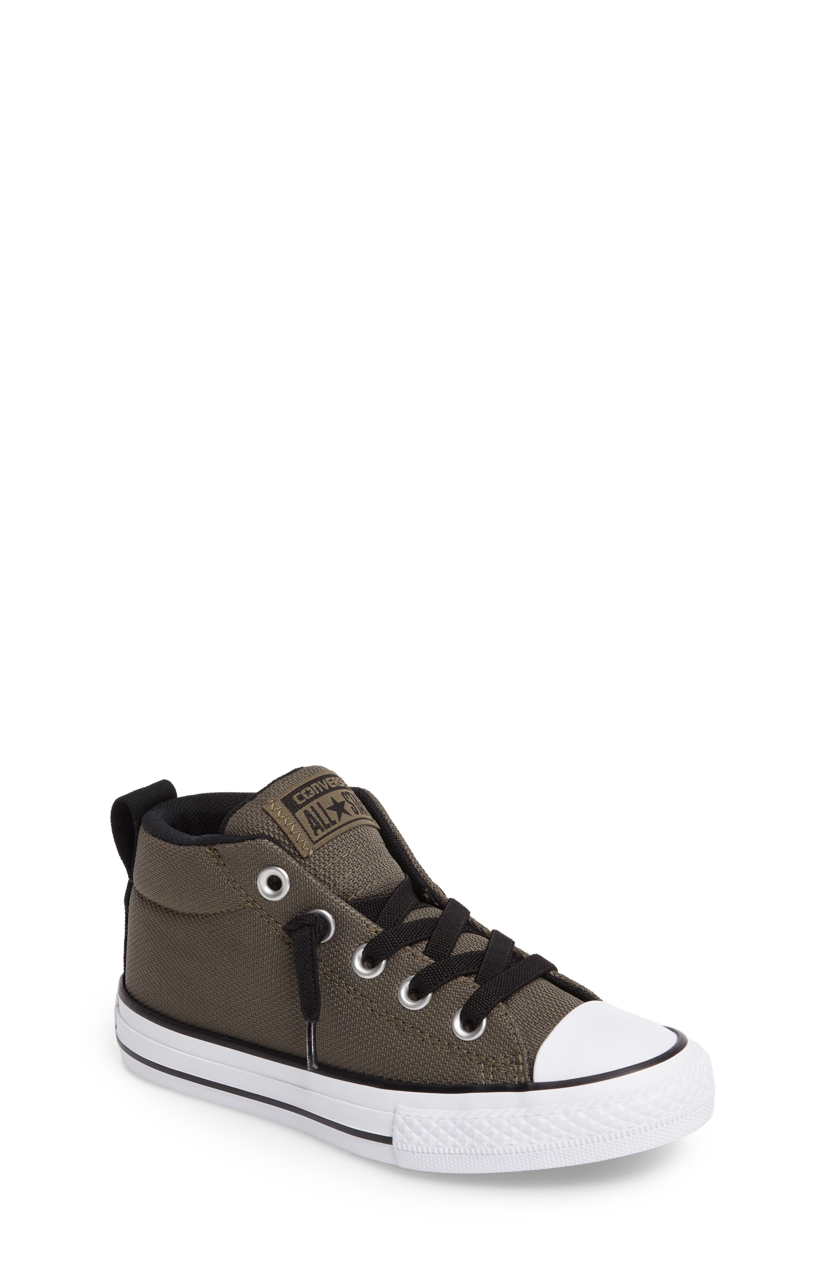 Chuck Taylor<sup>®</sup> All Star<sup>®</sup> Basket Weave Street Mid Sneaker,                         Main,                         color, 342