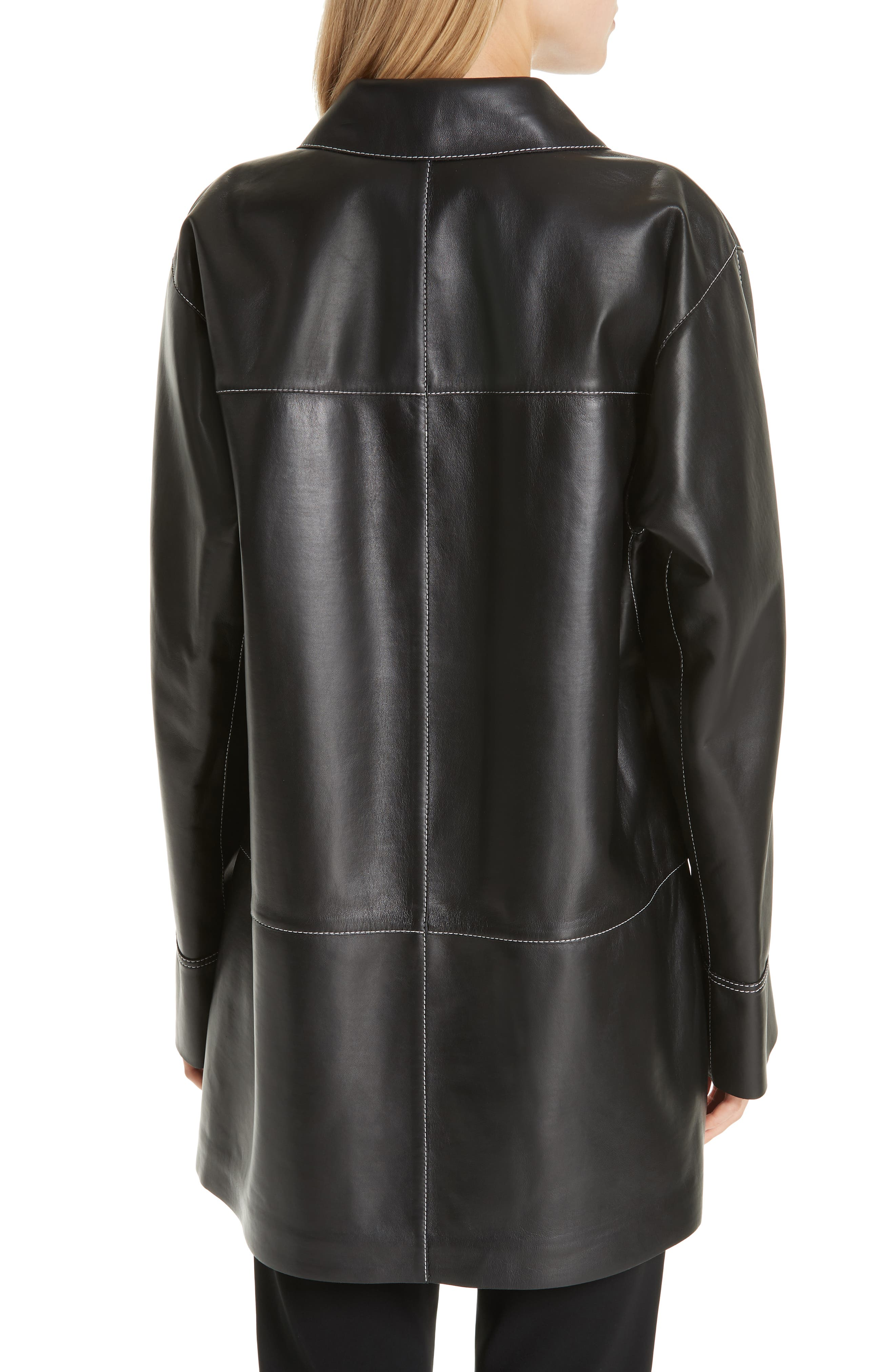 Christopher Leather Jacket,                             Alternate thumbnail 2, color,                             BLACK