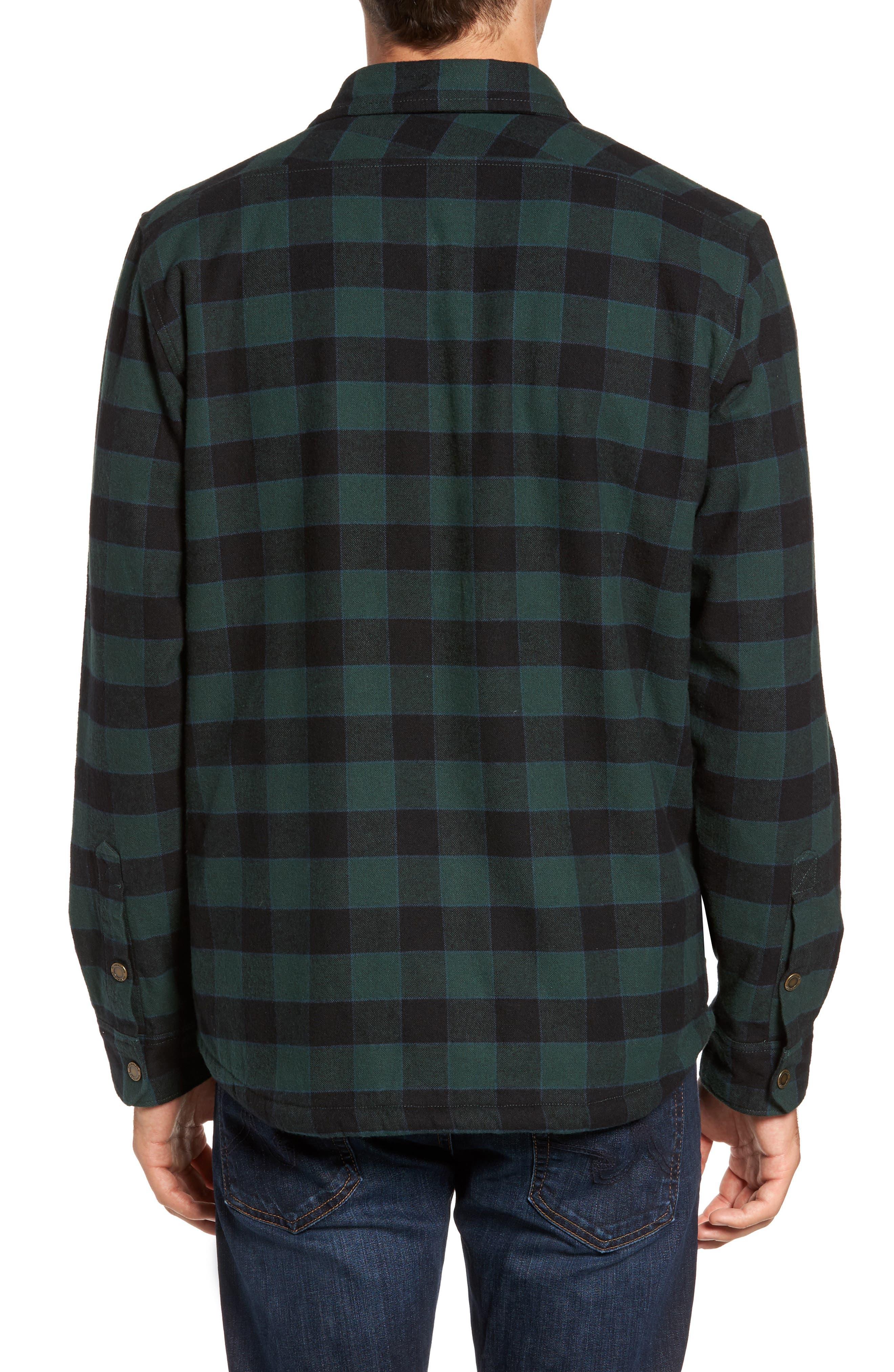 Check Shirt Jacket with Faux Shearling Lining,                             Alternate thumbnail 2, color,                             301