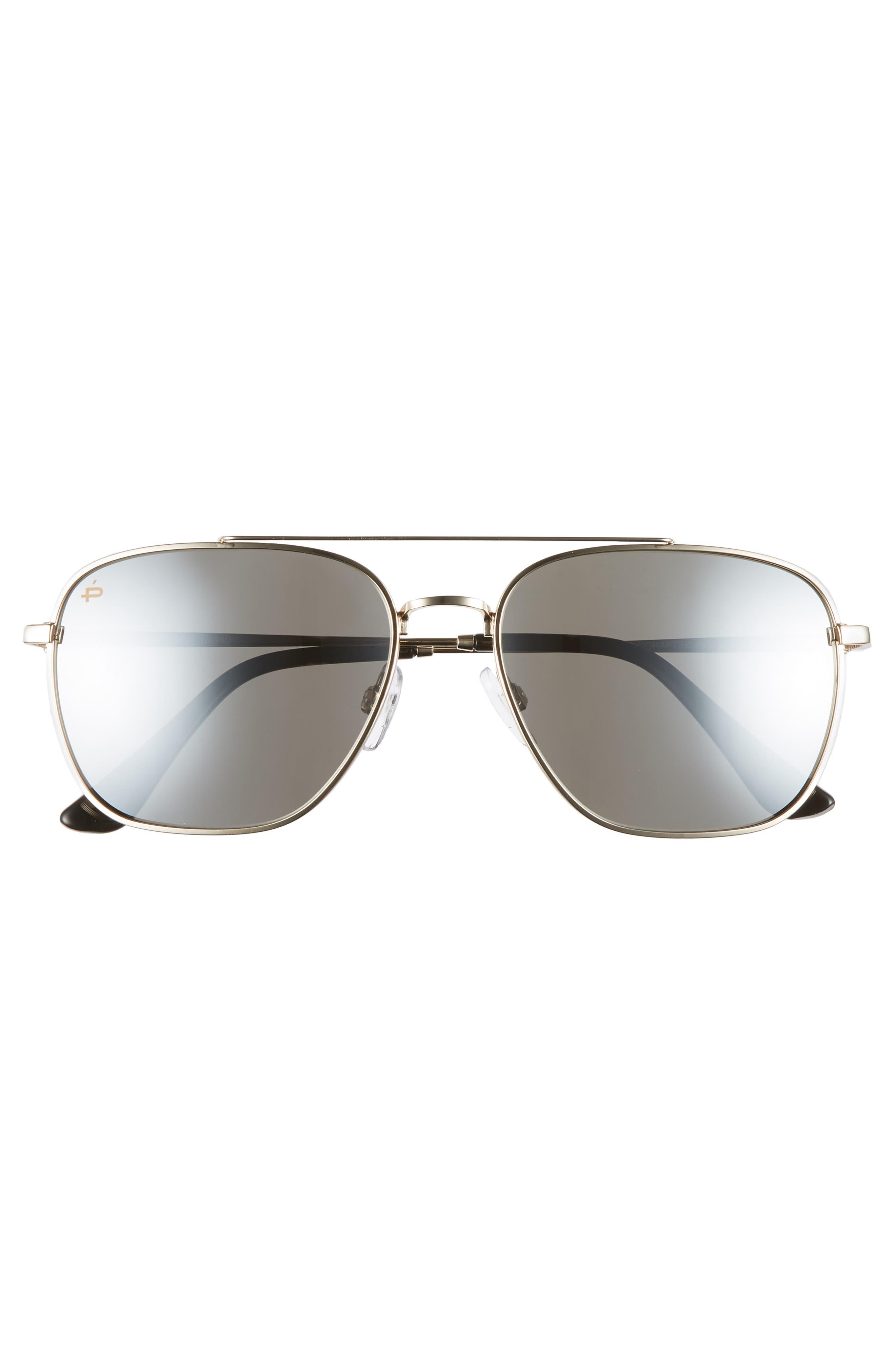 The Floridian Polarized 57mm Sunglasses,                             Alternate thumbnail 3, color,                             001