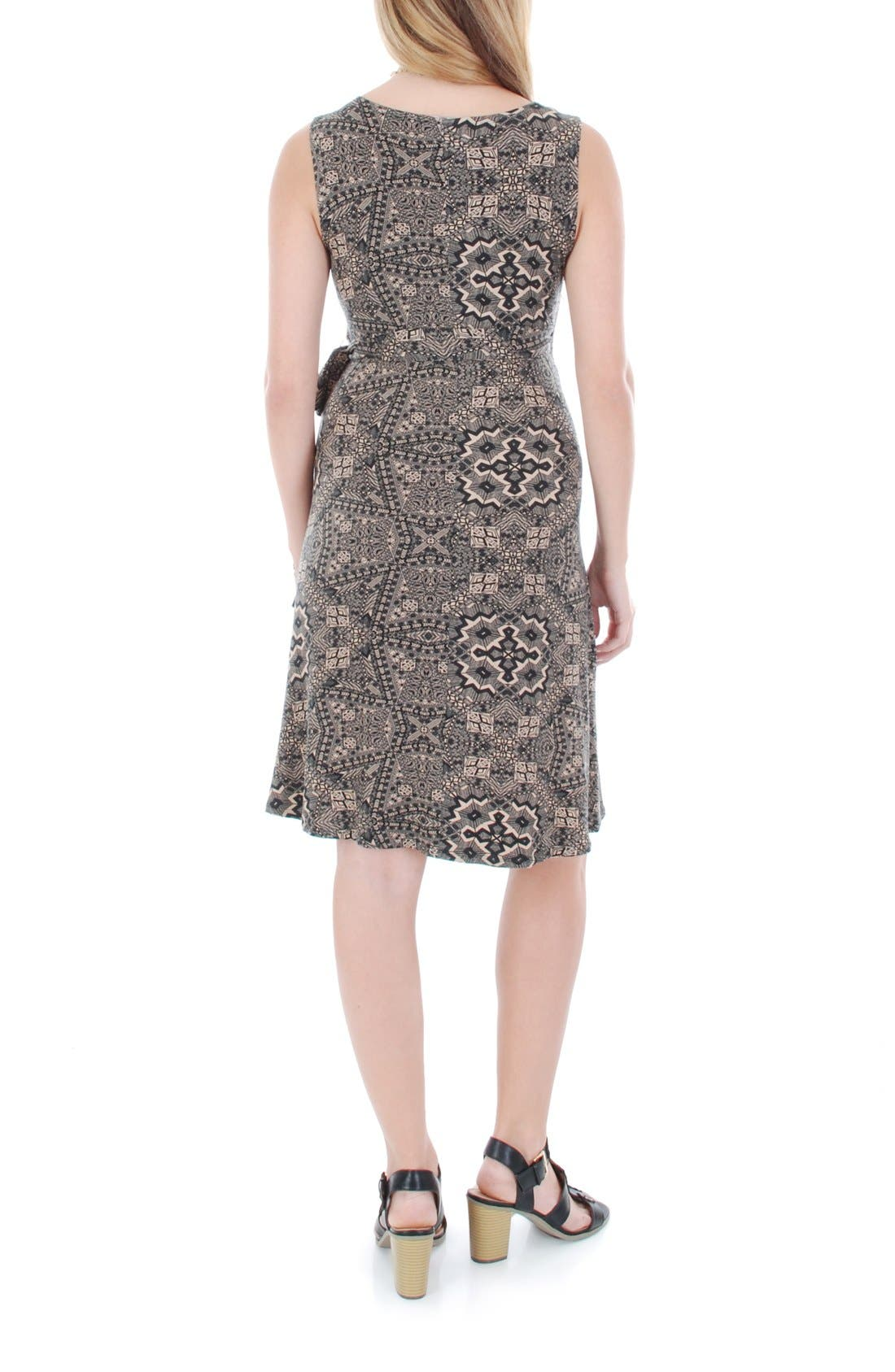 'Tania' Sleeveless Maternity/Nursing Wrap Dress,                             Alternate thumbnail 2, color,                             HENNA