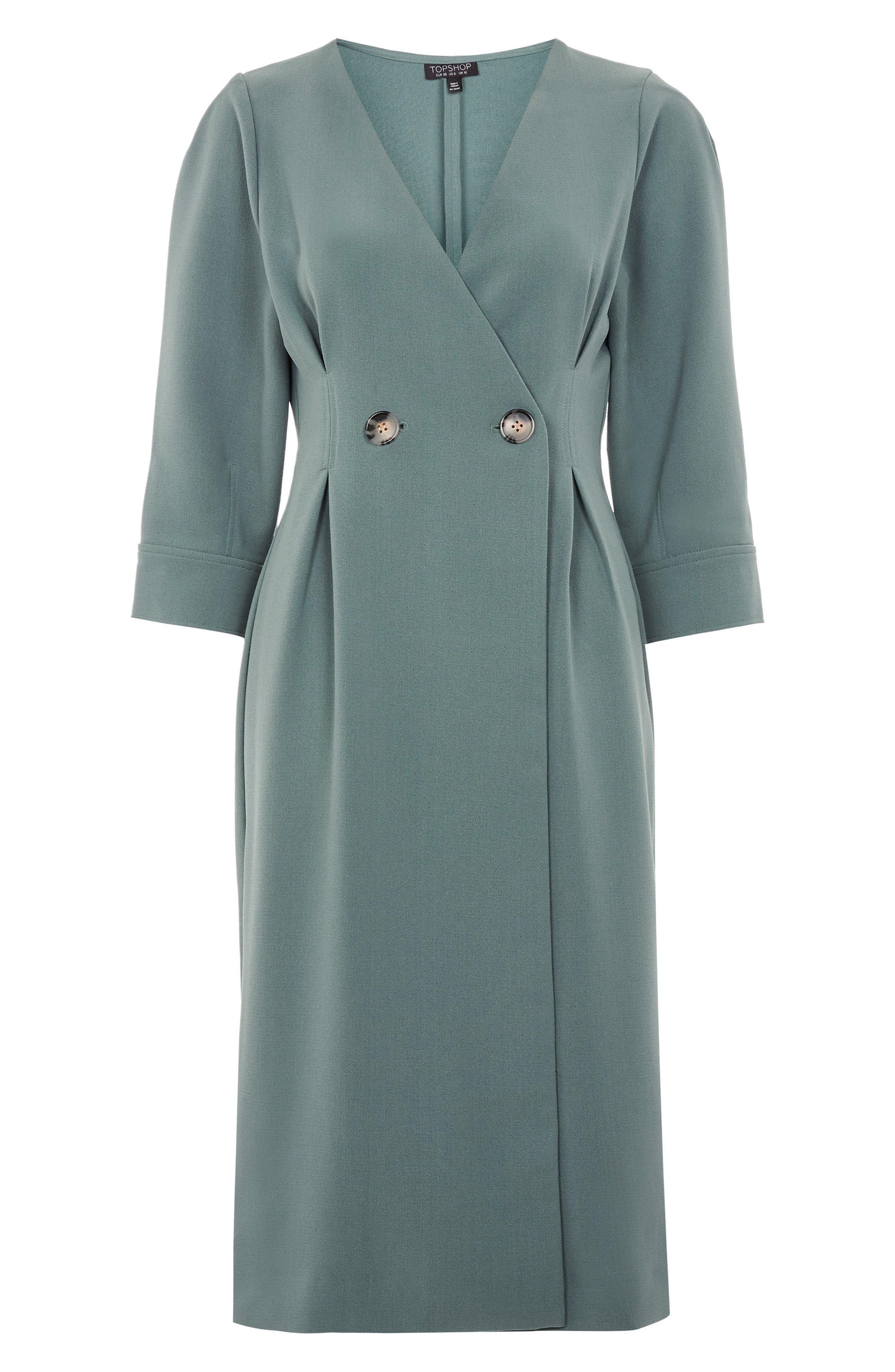 Wrap Midi Dress,                             Alternate thumbnail 4, color,