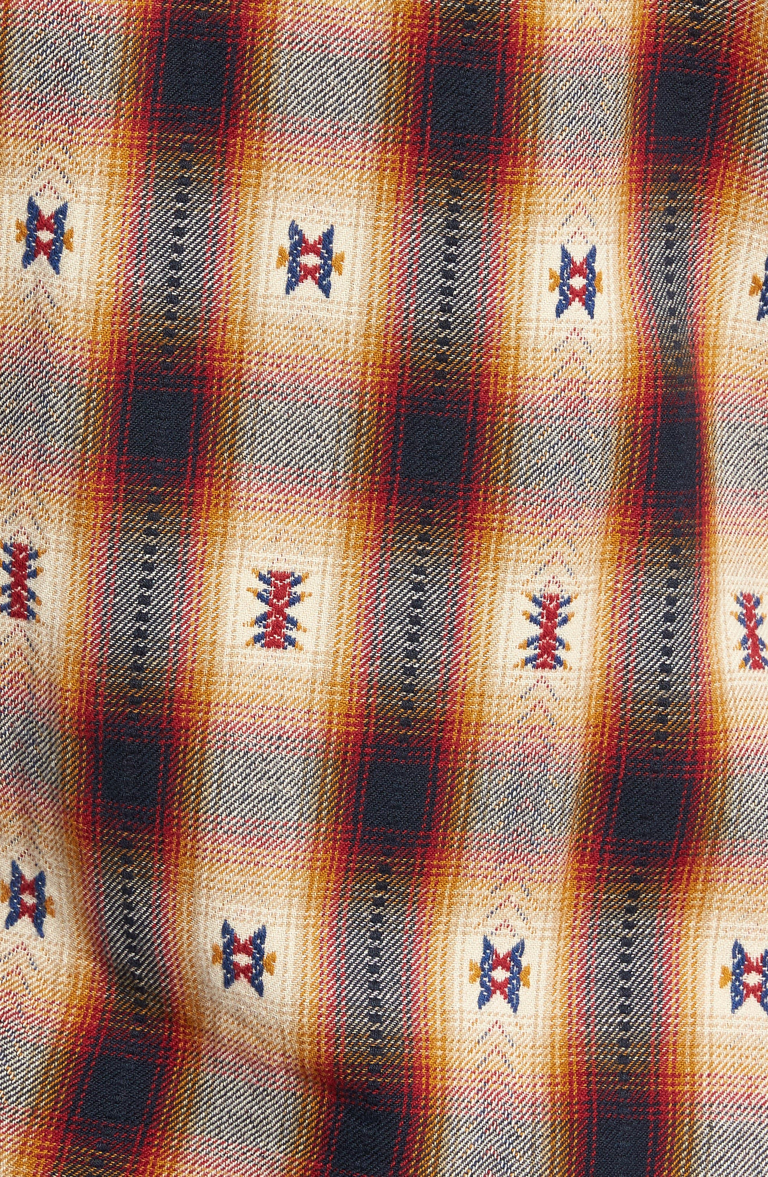 Feliz Dobby Plaid Western Shirt,                             Alternate thumbnail 5, color,                             410