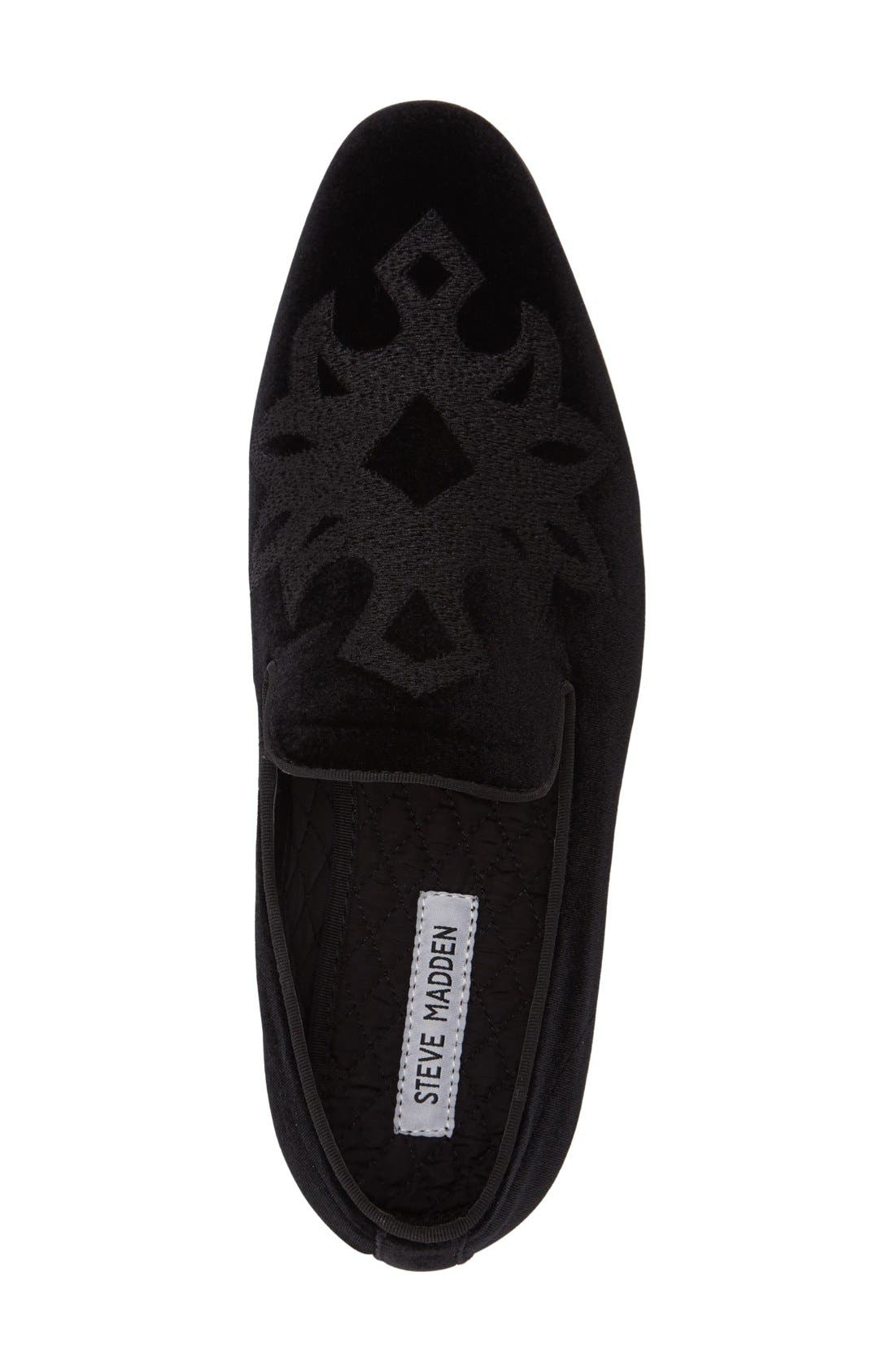 Lorax Venetian Loafer,                             Alternate thumbnail 3, color,                             BLACK VELVET