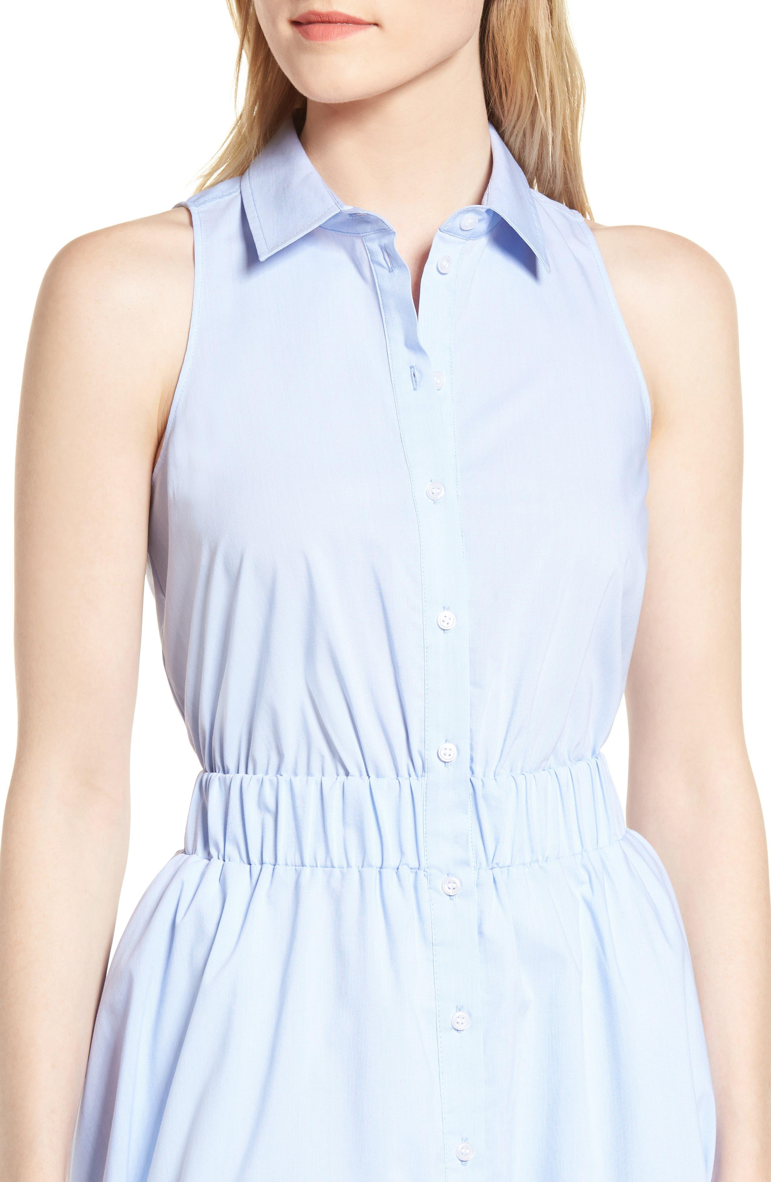 Sleeveless Shirtdress,                             Alternate thumbnail 16, color,