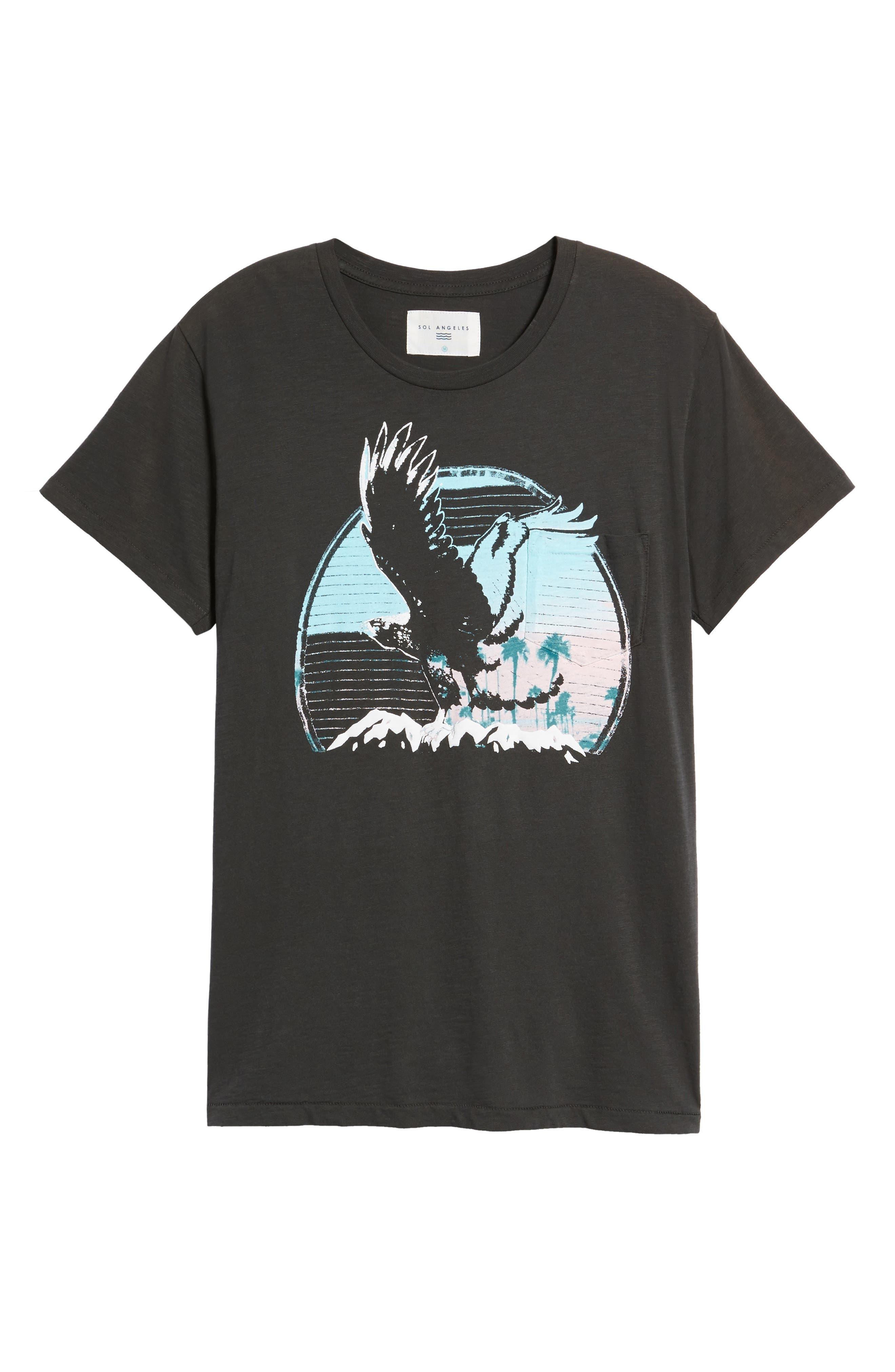 Sunset Eagle Pocket T-Shirt,                             Alternate thumbnail 6, color,                             002
